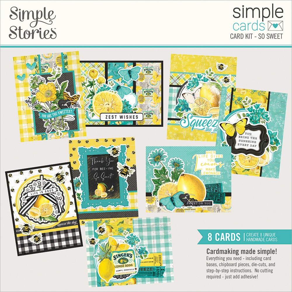 Simple Stories Simple Cards Card Kit-So Sweet, Lemon Twist
