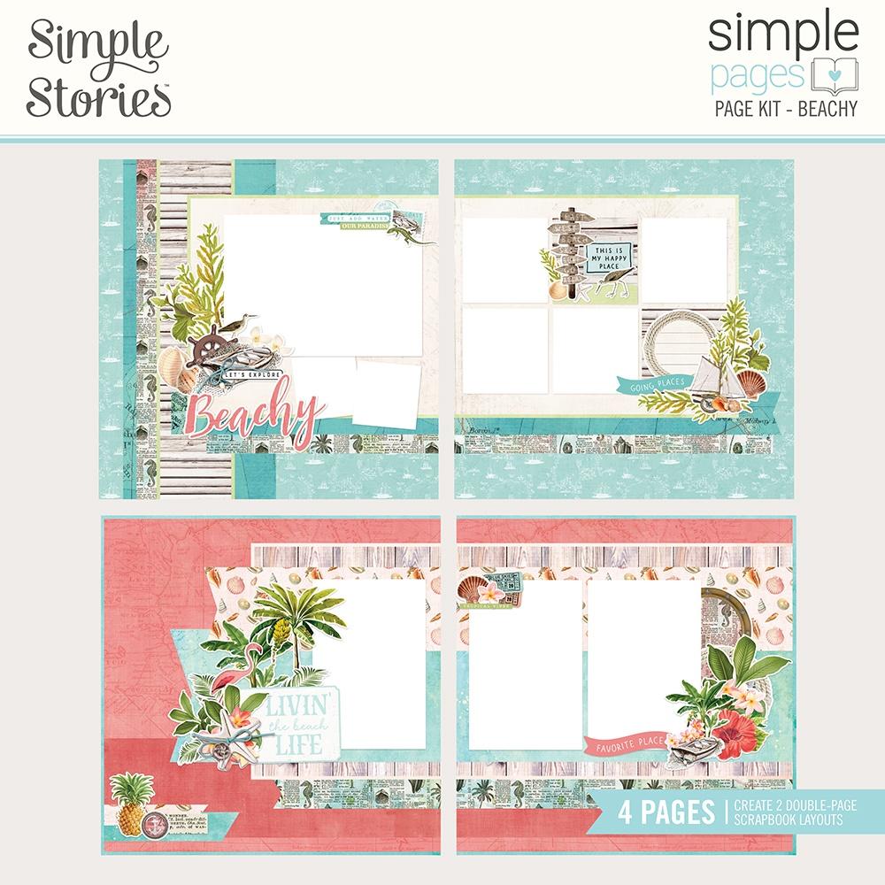 Simple Stories Beachy, Coastal Page Kit
