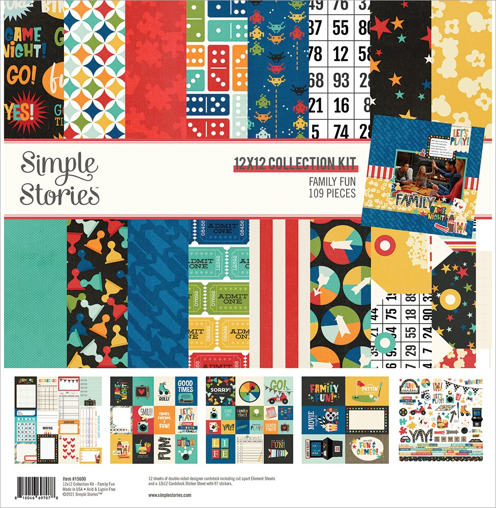 Simple Stories Collection Kit 12X12-Family Fun