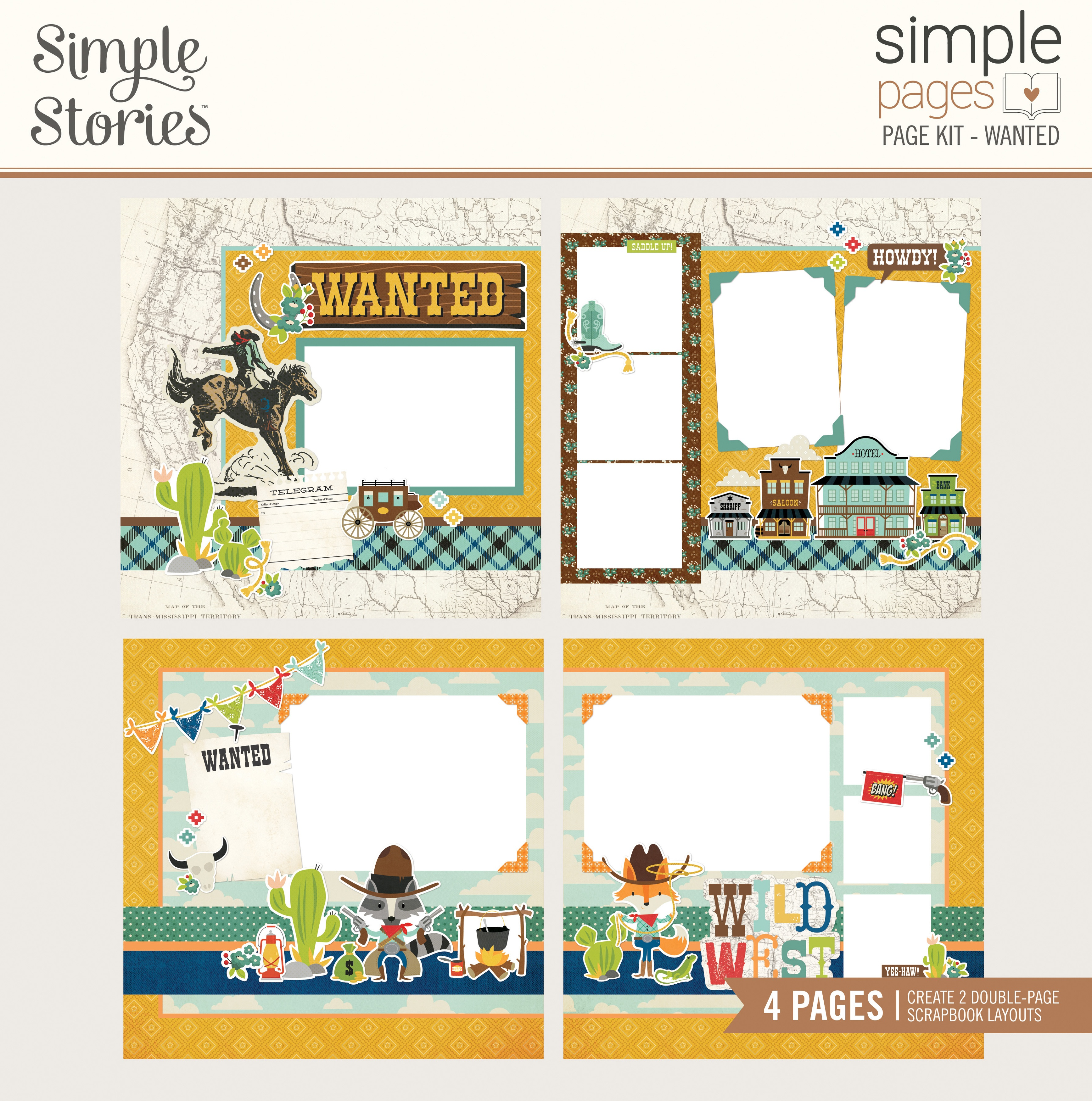 Simple Stories Simple Pages Page Kit-Wanted, Howdy!