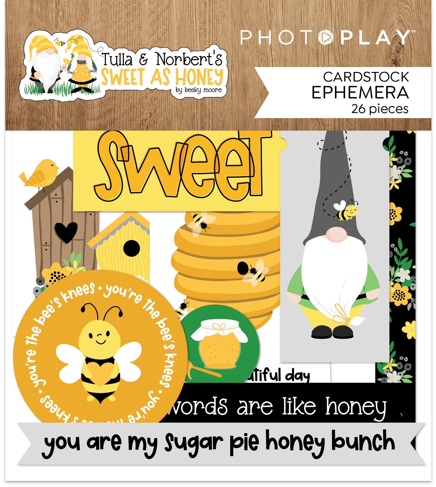 Sweet As Honey Ephemera Cardstock Die-Cuts-