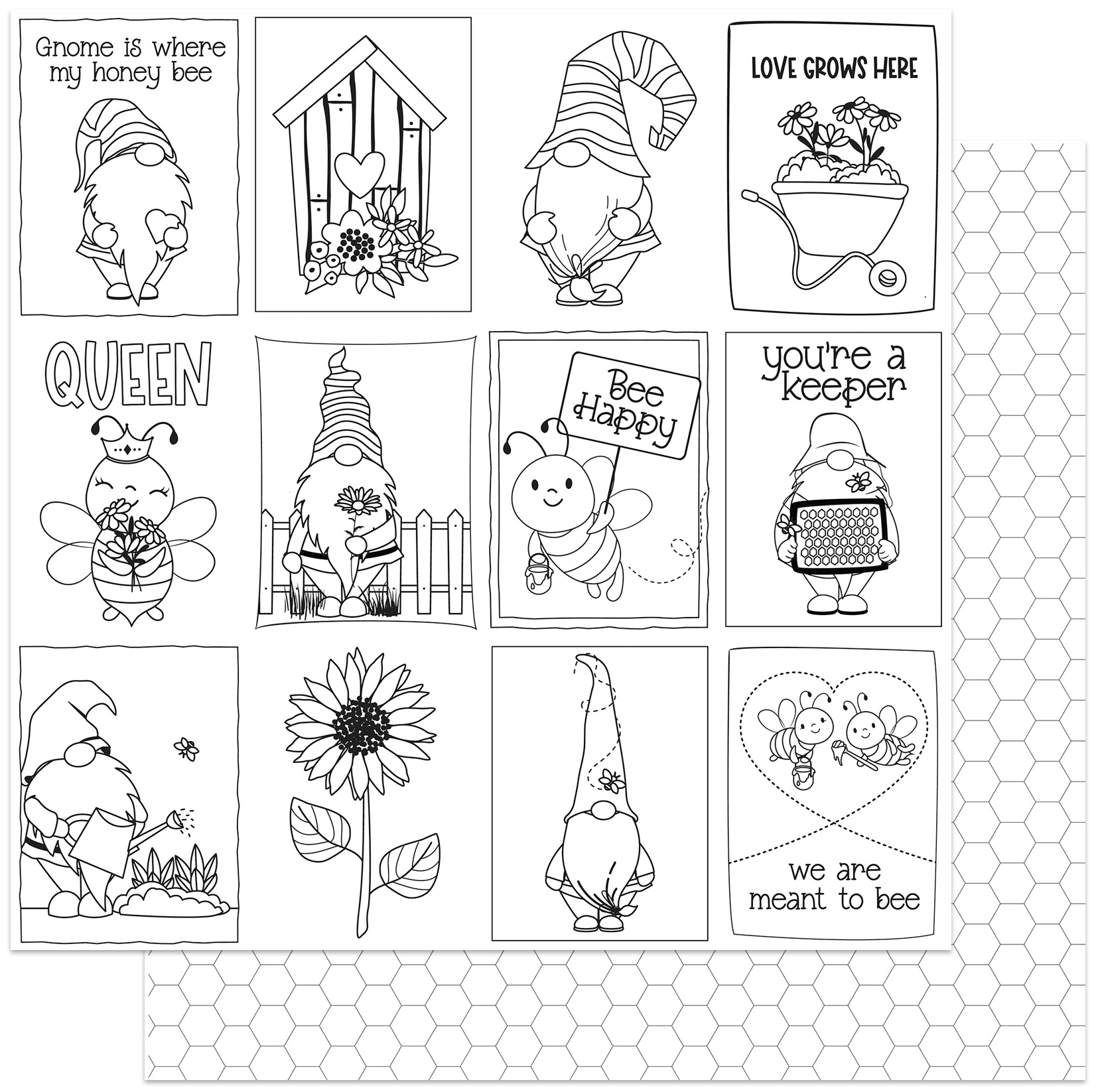 Sweet As Honey Double-Sided Cardstock 12X12-Color Me