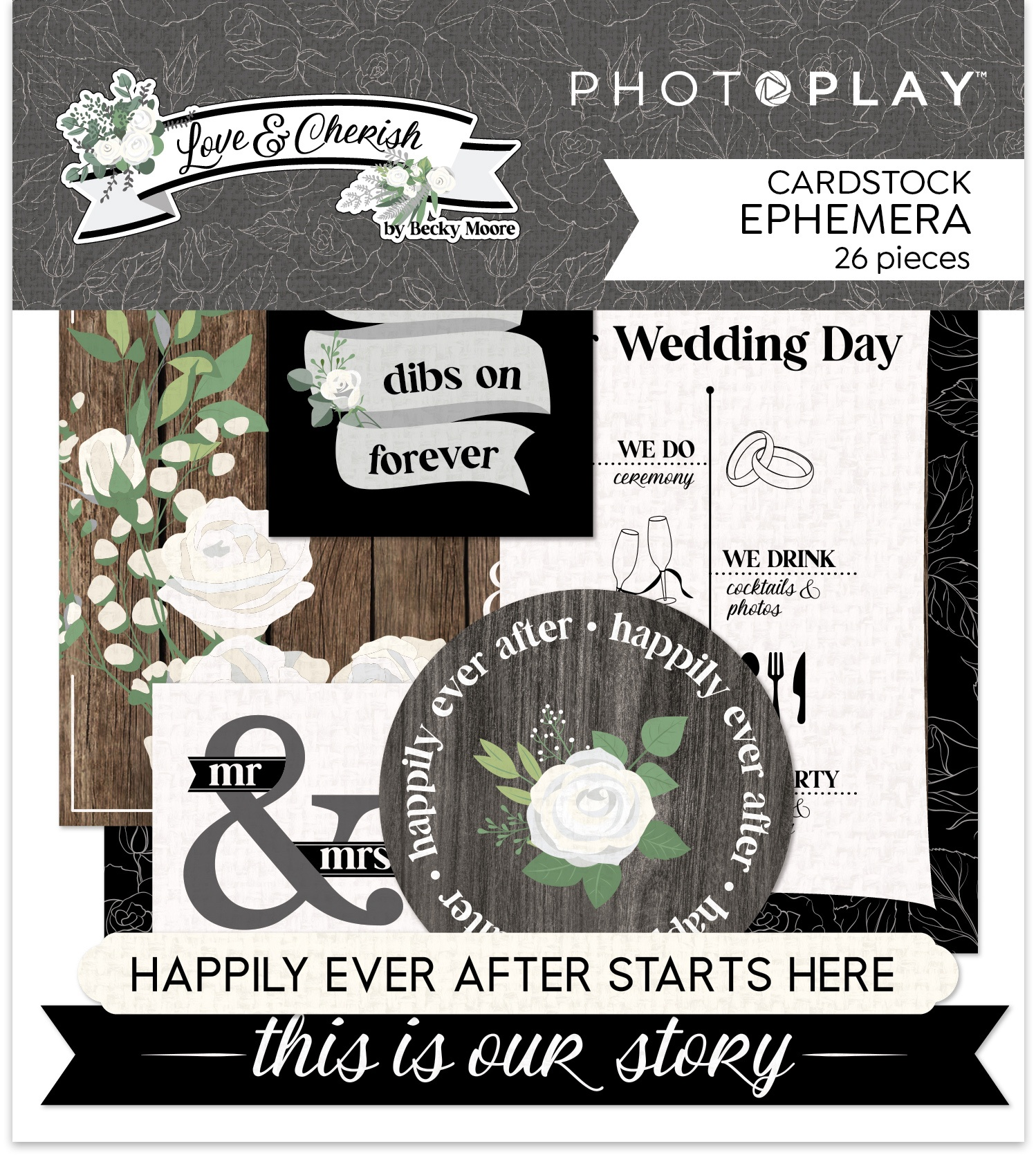 Love & Cherish Ephemera Cardstock Die-Cuts-