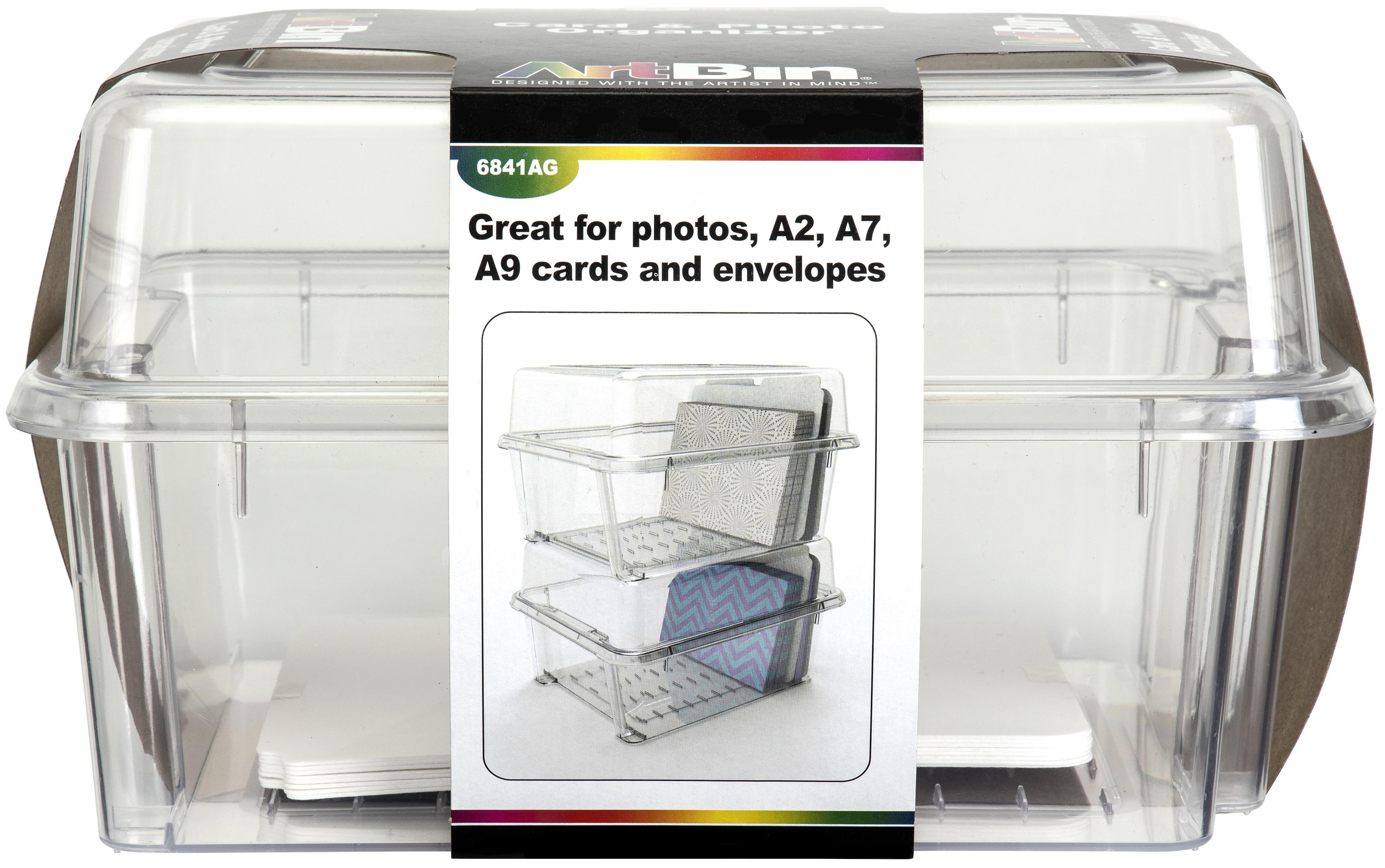 ArtBin Card & Photo Storage Box-4X8.25X1 Clear