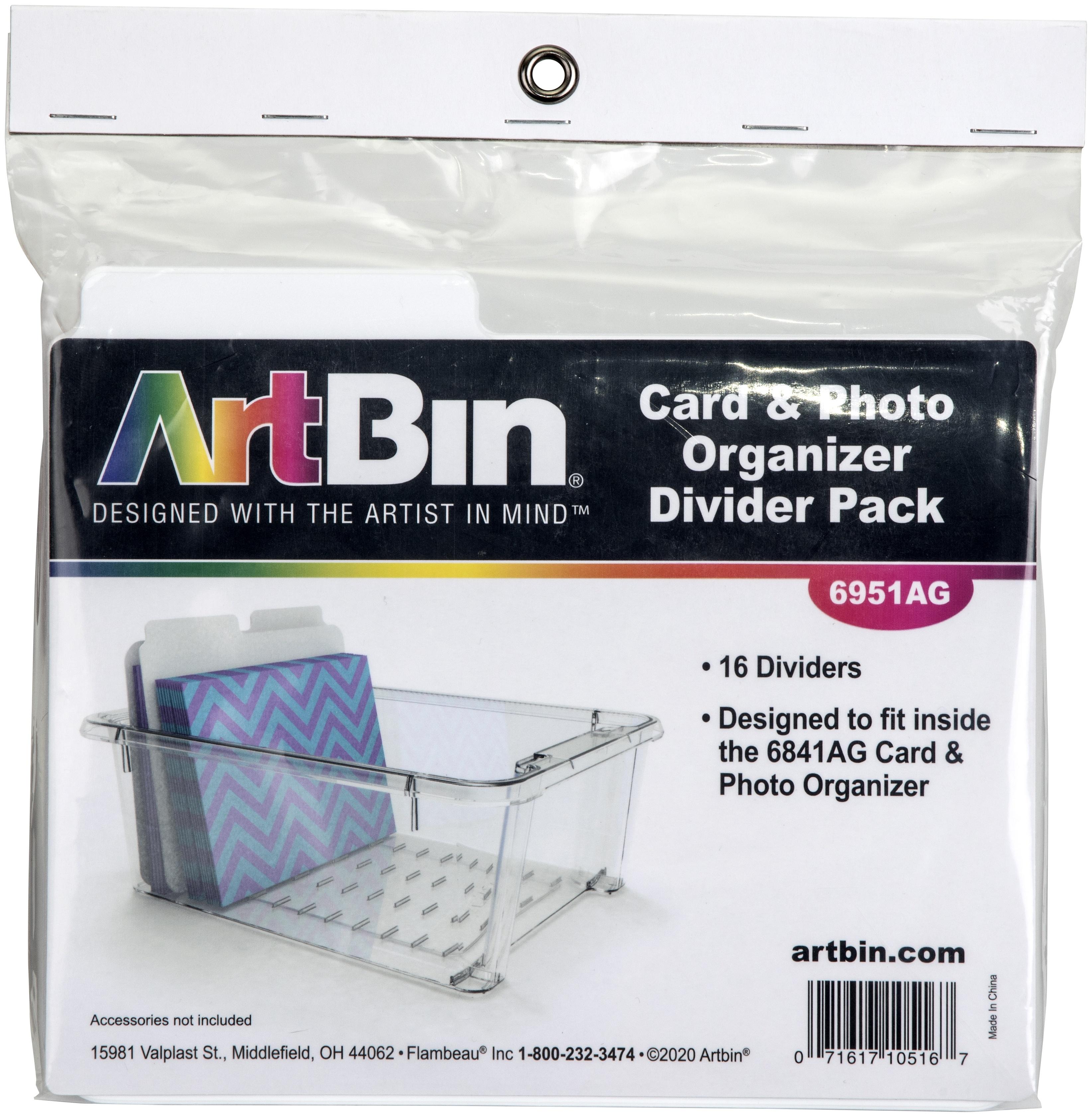 ArtBin Card & Photo Organizer Divider Packs-16/Pkg