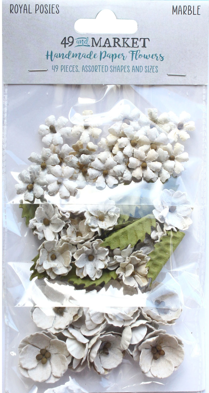 49 And Market Royal Posies Paper Flowers 49/Pkg-Marble
