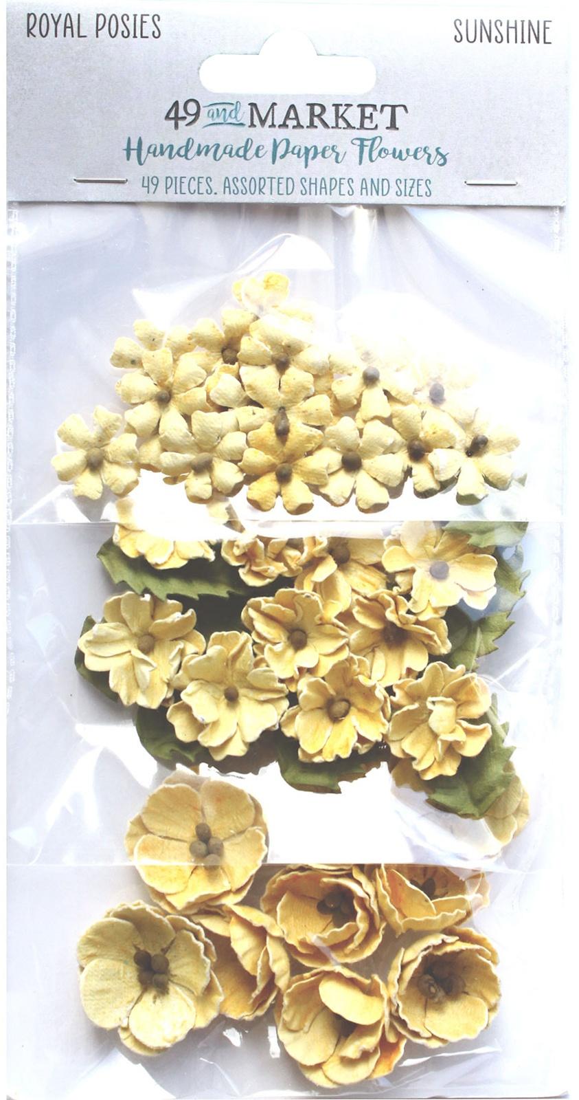 49 And Market Royal Posies Paper Flowers 49/Pkg-Sunshine