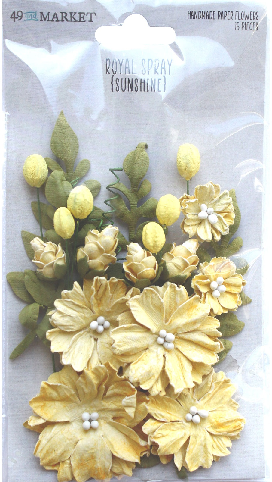 49 And Market Royal Spray Paper Flowers - Sunshine