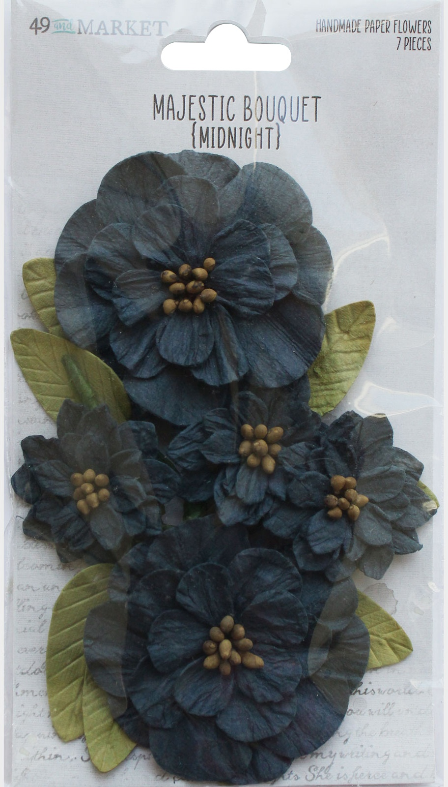 49 And Market Majestic Bouquet Paper Flowers - Midnight