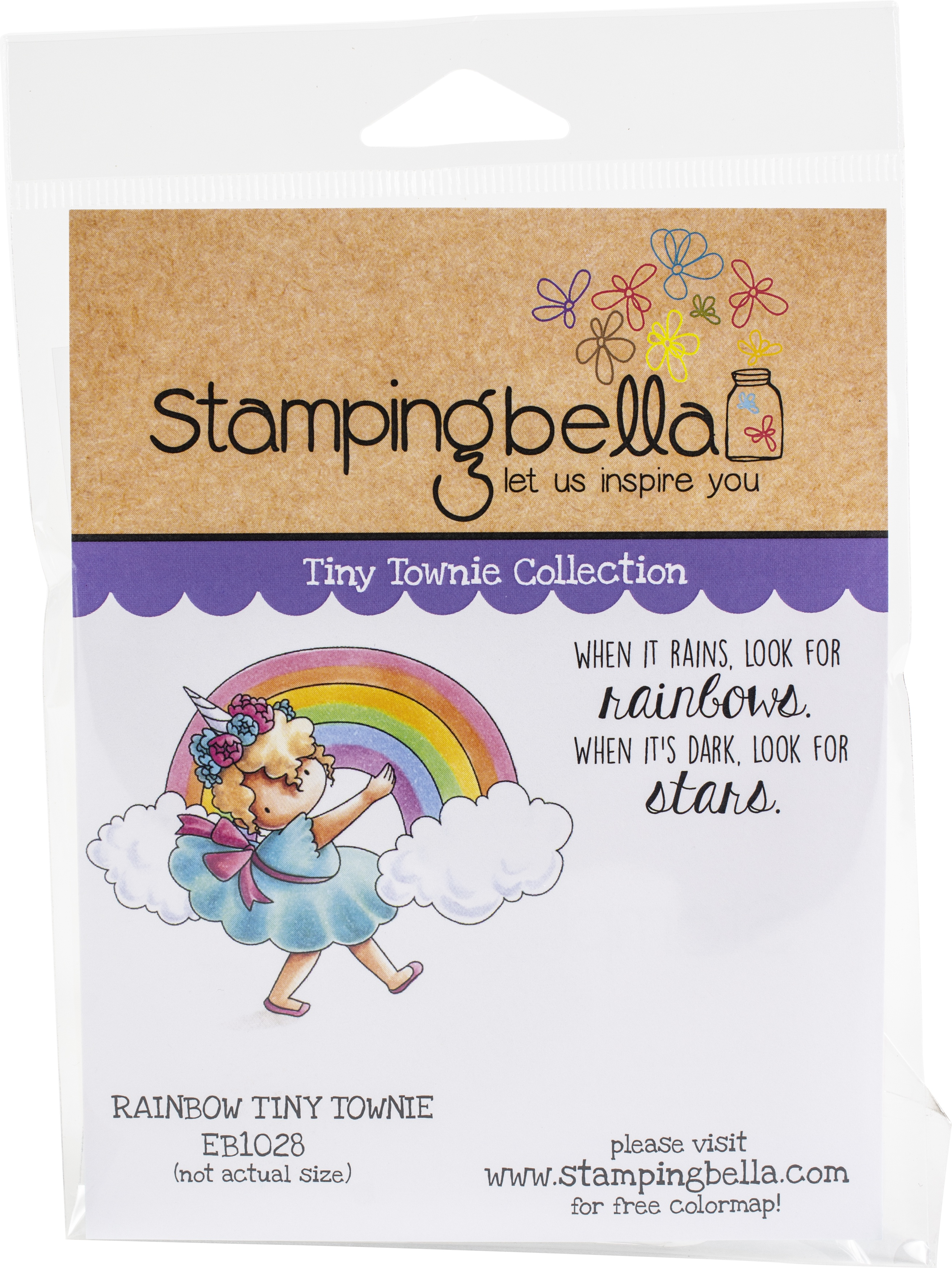 Stamping Bella Cling Stamps-Rainbow Tiny Townie