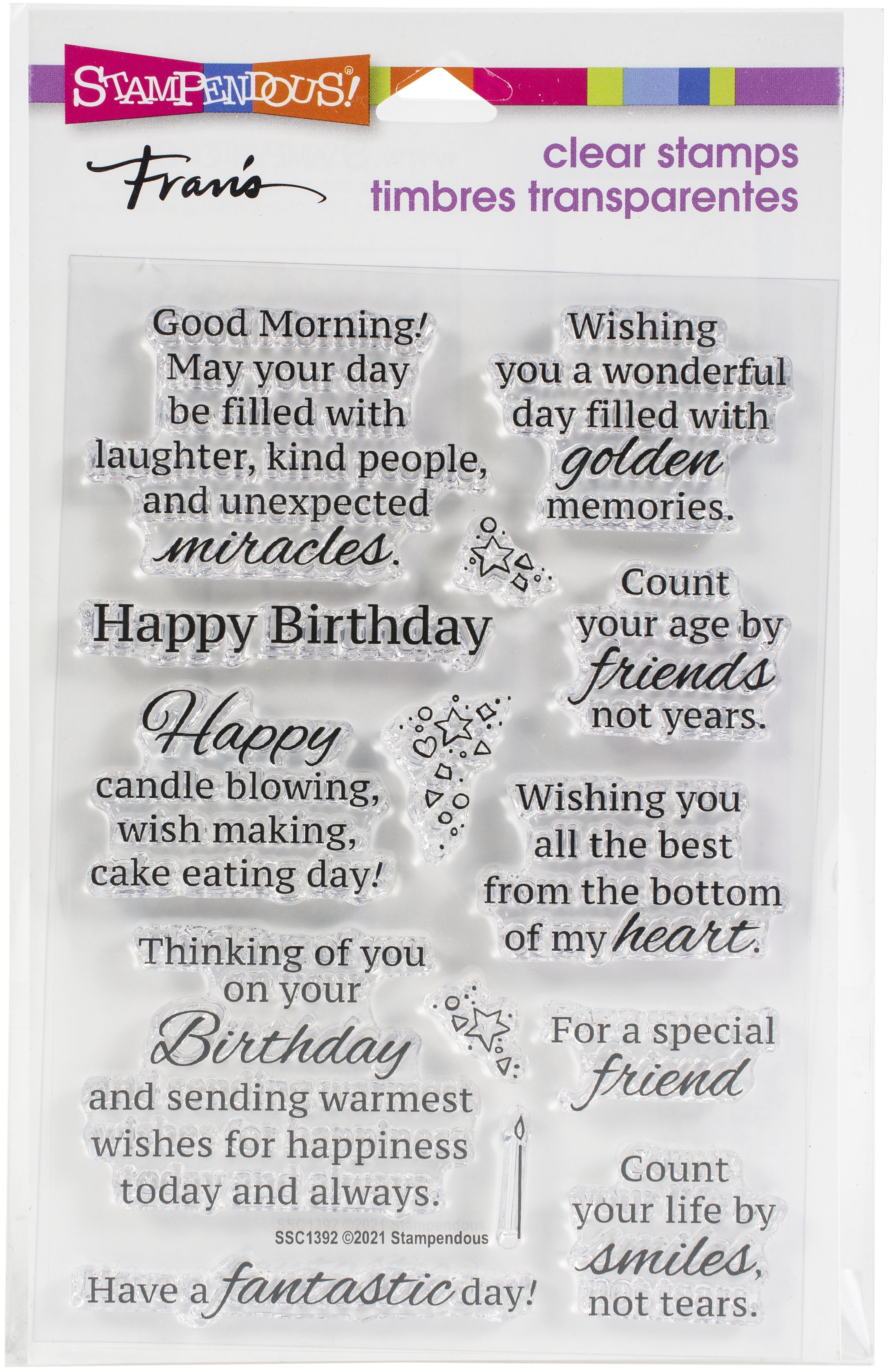 Stampendous Perfectly Clear Stamps-Birthday Smiles
