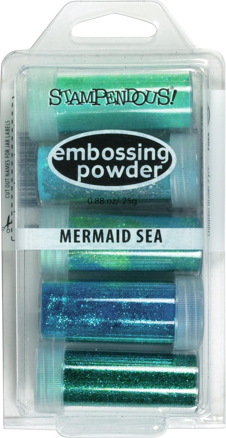 Embossing Powder 5/Pkg .86oz Mermaid Sea
