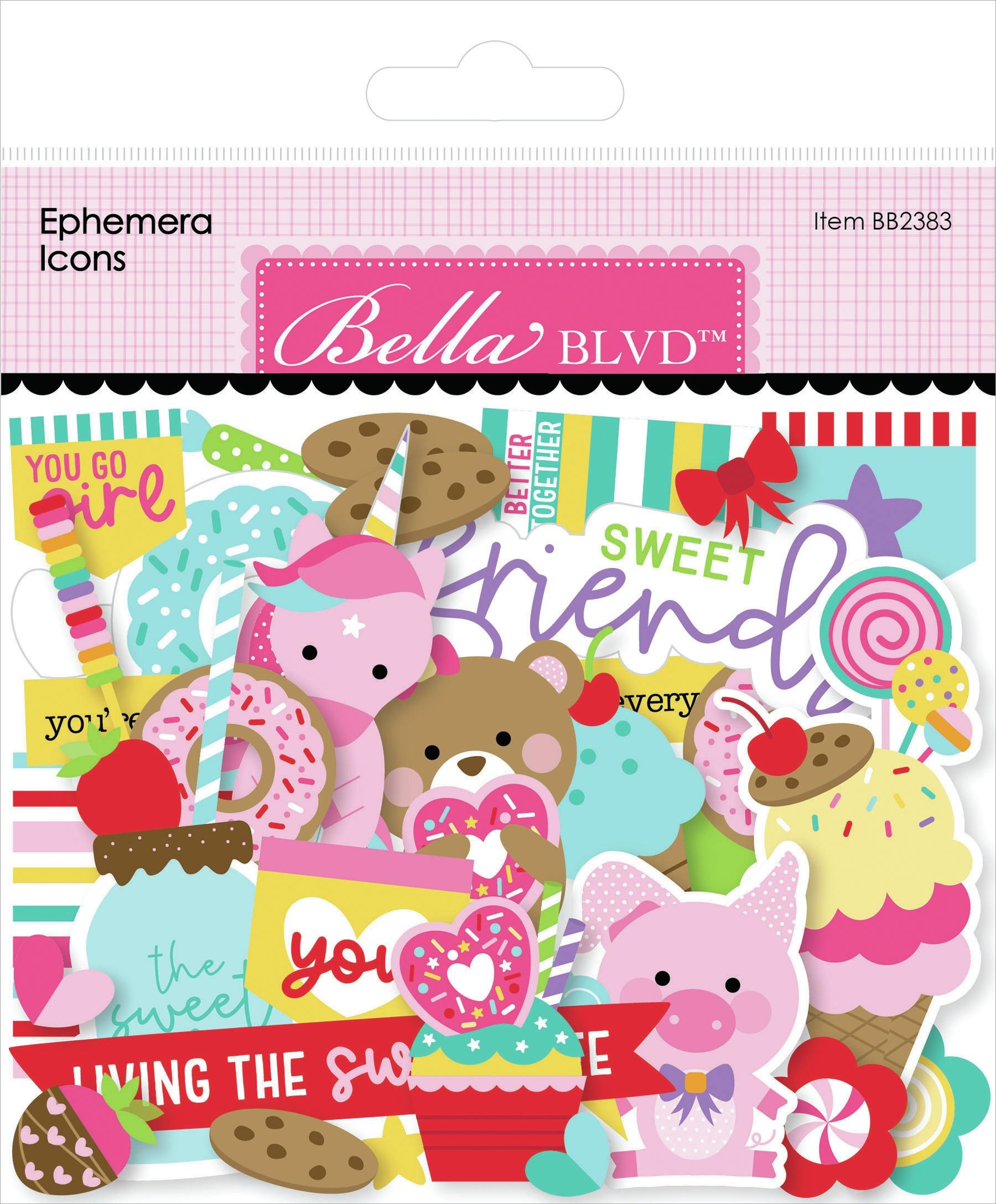 Bella Blvd Cardstock Ephemera -Icons, My Candy Girl