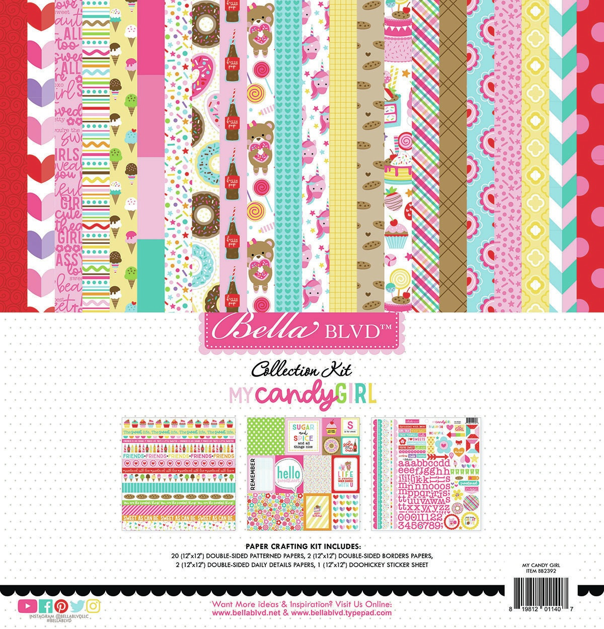 Bella Blvd Collection Kit 12X12-My Candy Girl