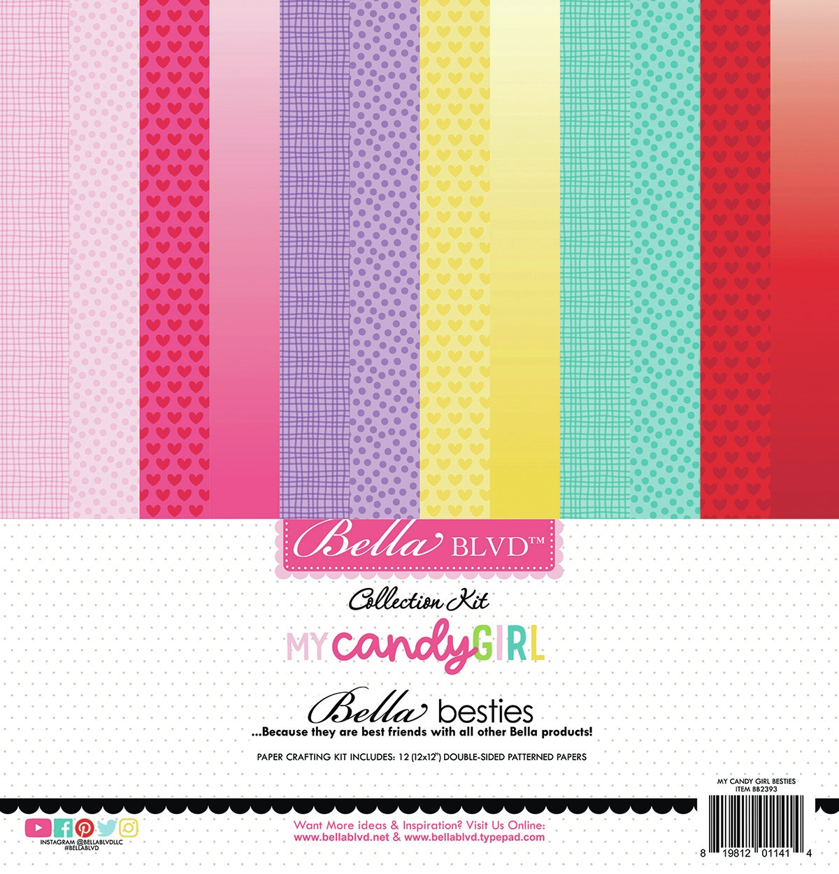 Bella Blvd Besties Collection Kit 12X12-My Candy Girl