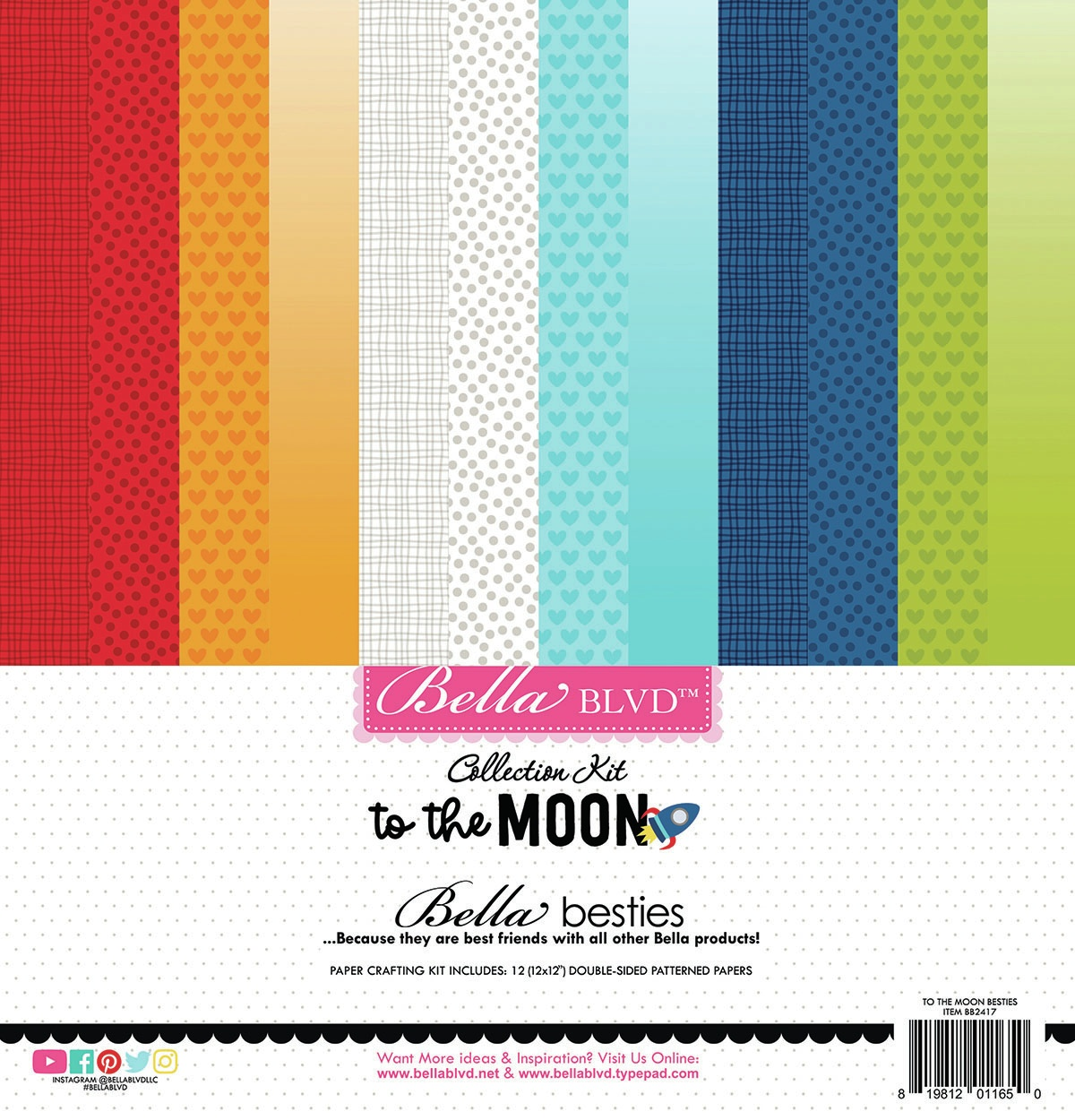 Bella Blvd Besties Collection Kit 12X12-To The Moon