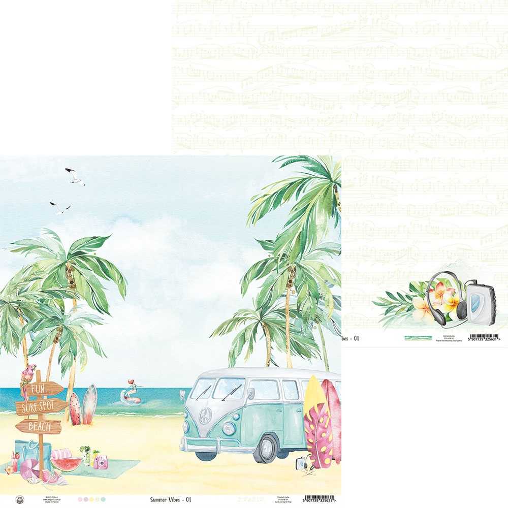 COLLECTION: Summer Vibes Double-Sided Cardstock 12X12