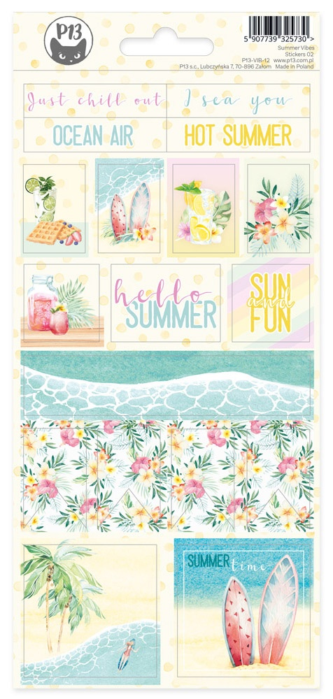 Summer Vibes Cardstock Stickers 4X9-#02