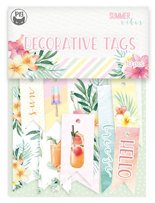 Summer Vibes Double-Sided Cardstock Tags 10/Pkg-#02