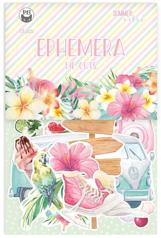 P13 Summer Vibes Ephemera Cardstock Die-Cuts 13/Pkg-