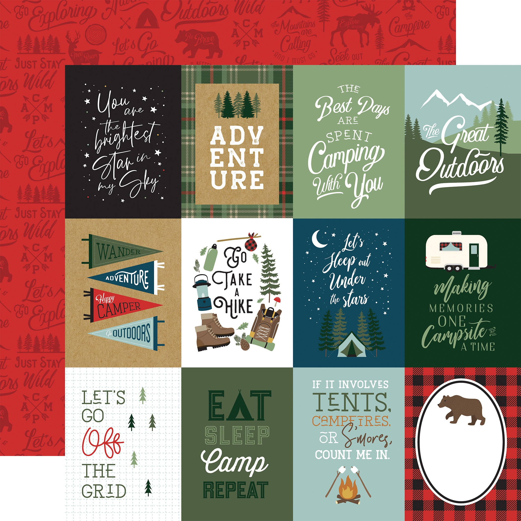EP Let's Go Camping - 3x4 Journaling Cards