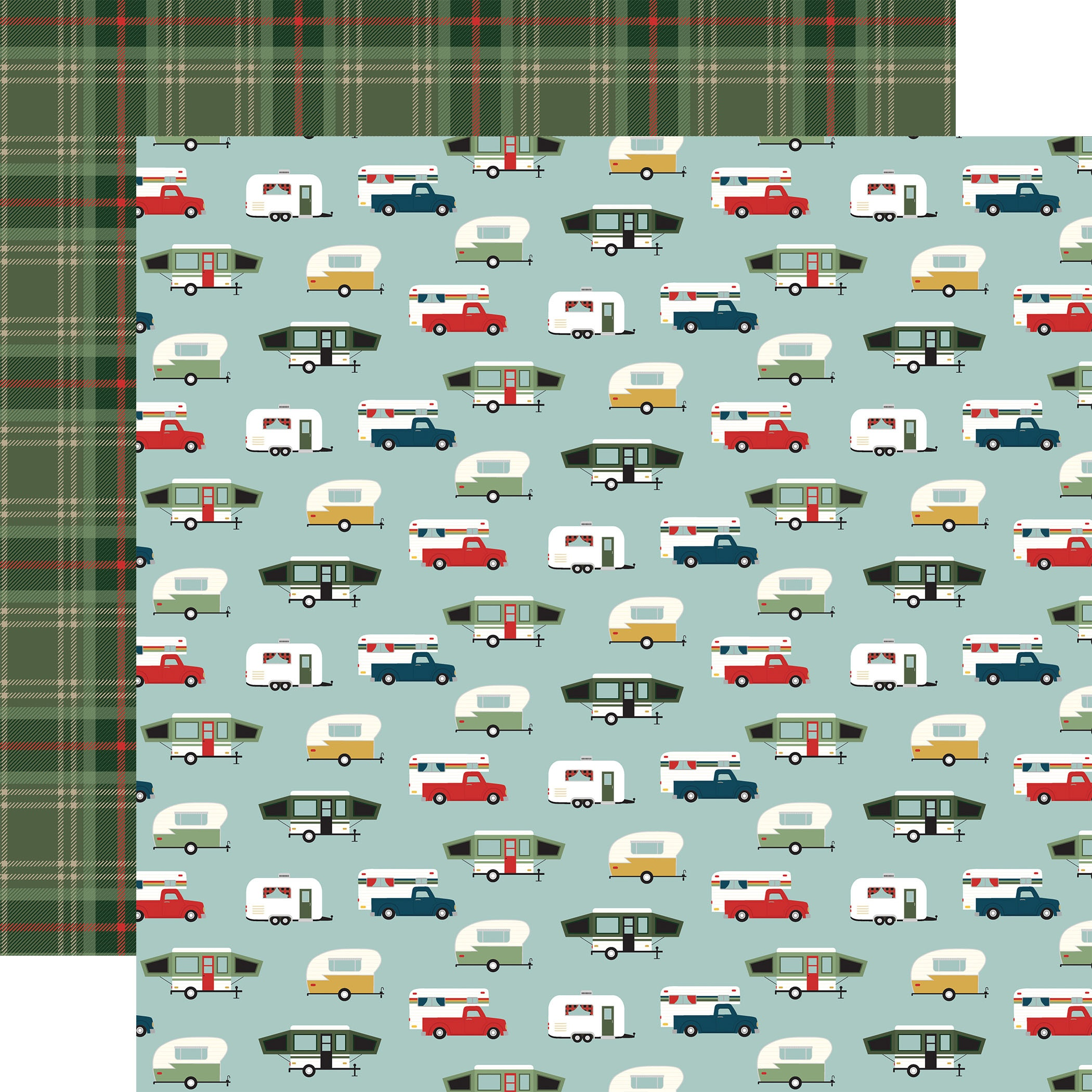 Echo Park - Let's Go Camping - HAPPY CAMPERS - 12x12 Double-Sided Paper