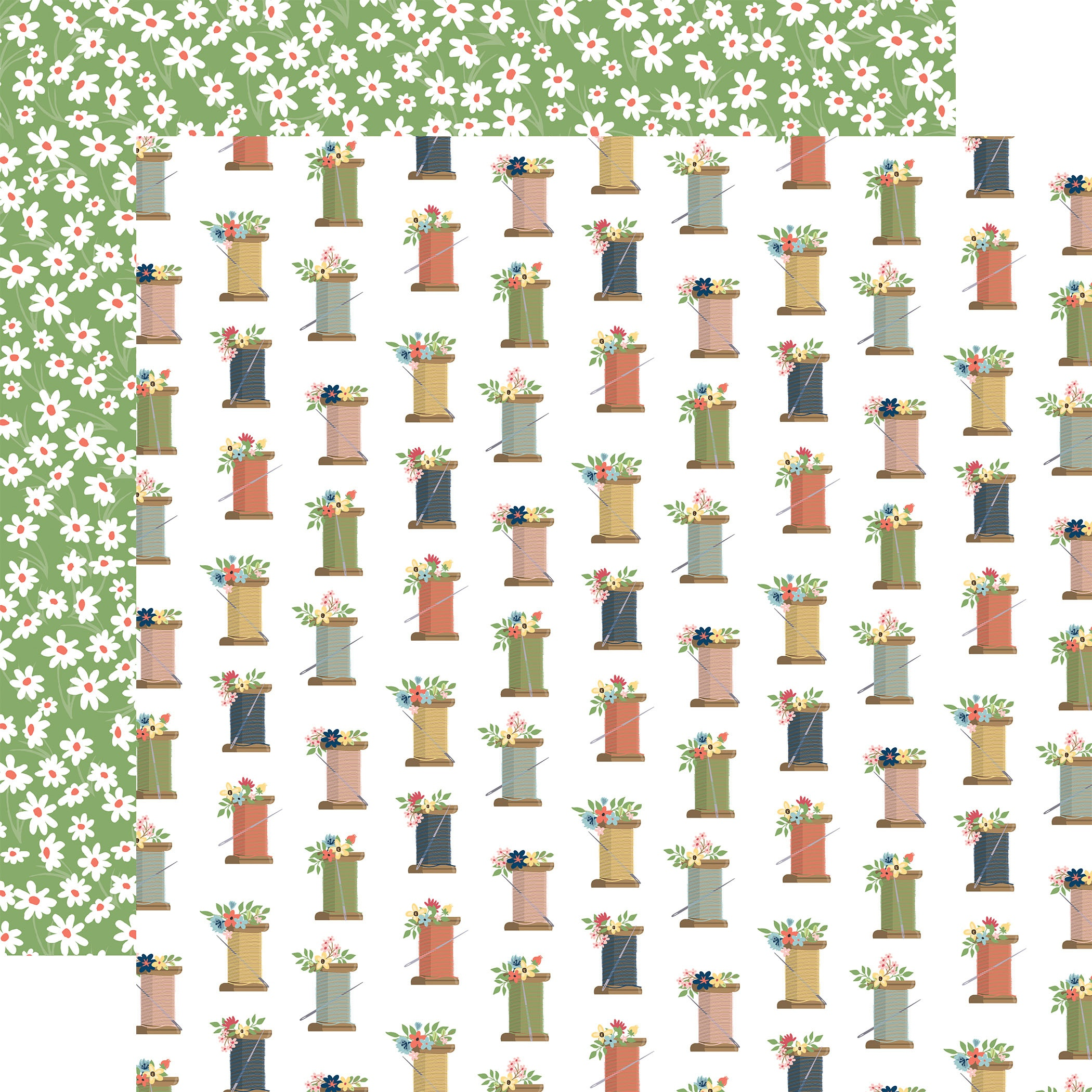 Carta Bella - Craft & Create - SPOOLS - 12x12 Double-Sided Textured Paper