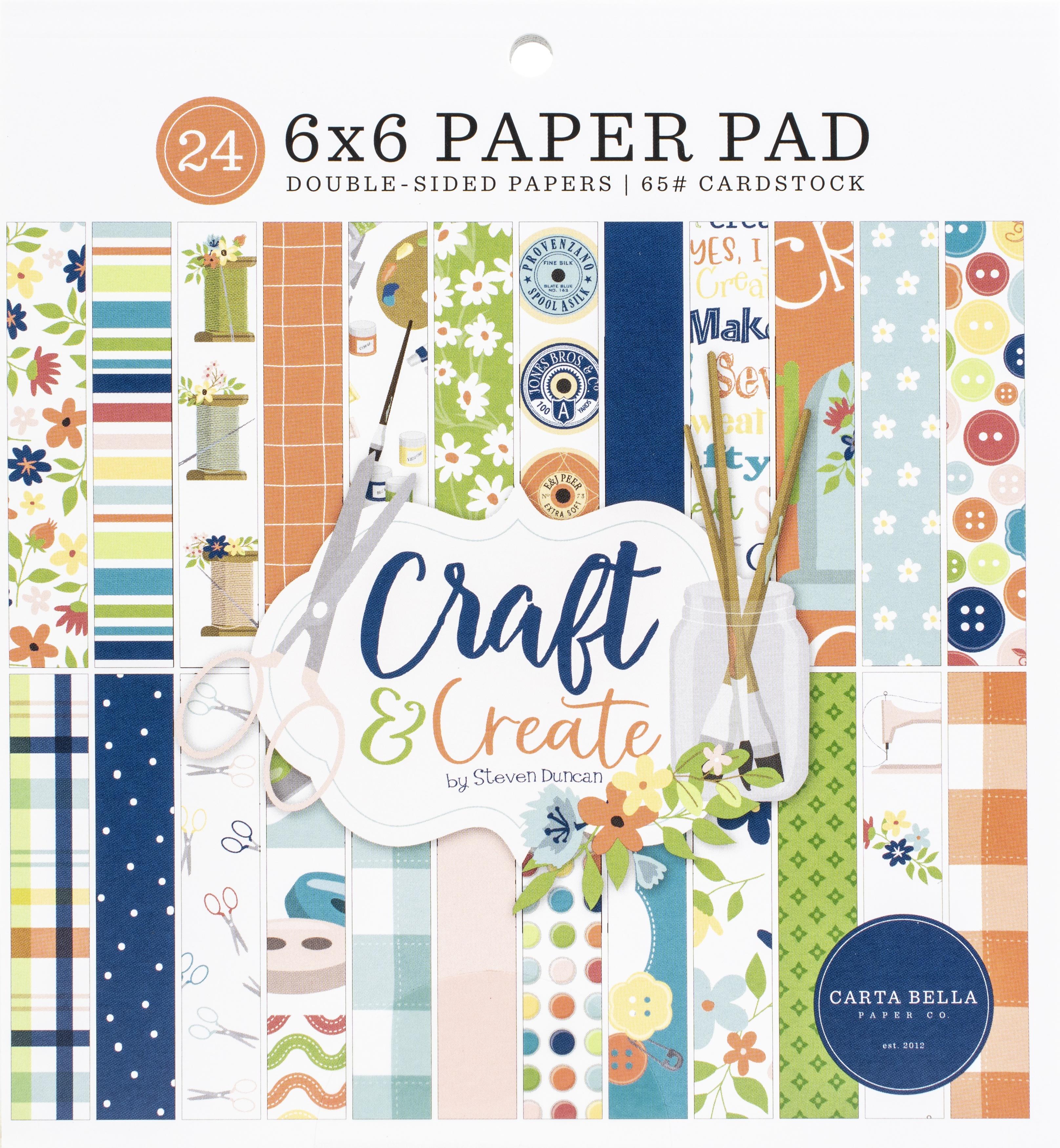 Carta Bella Double-Sided Paper Pad 6X6 24/Pkg-Craft & Create