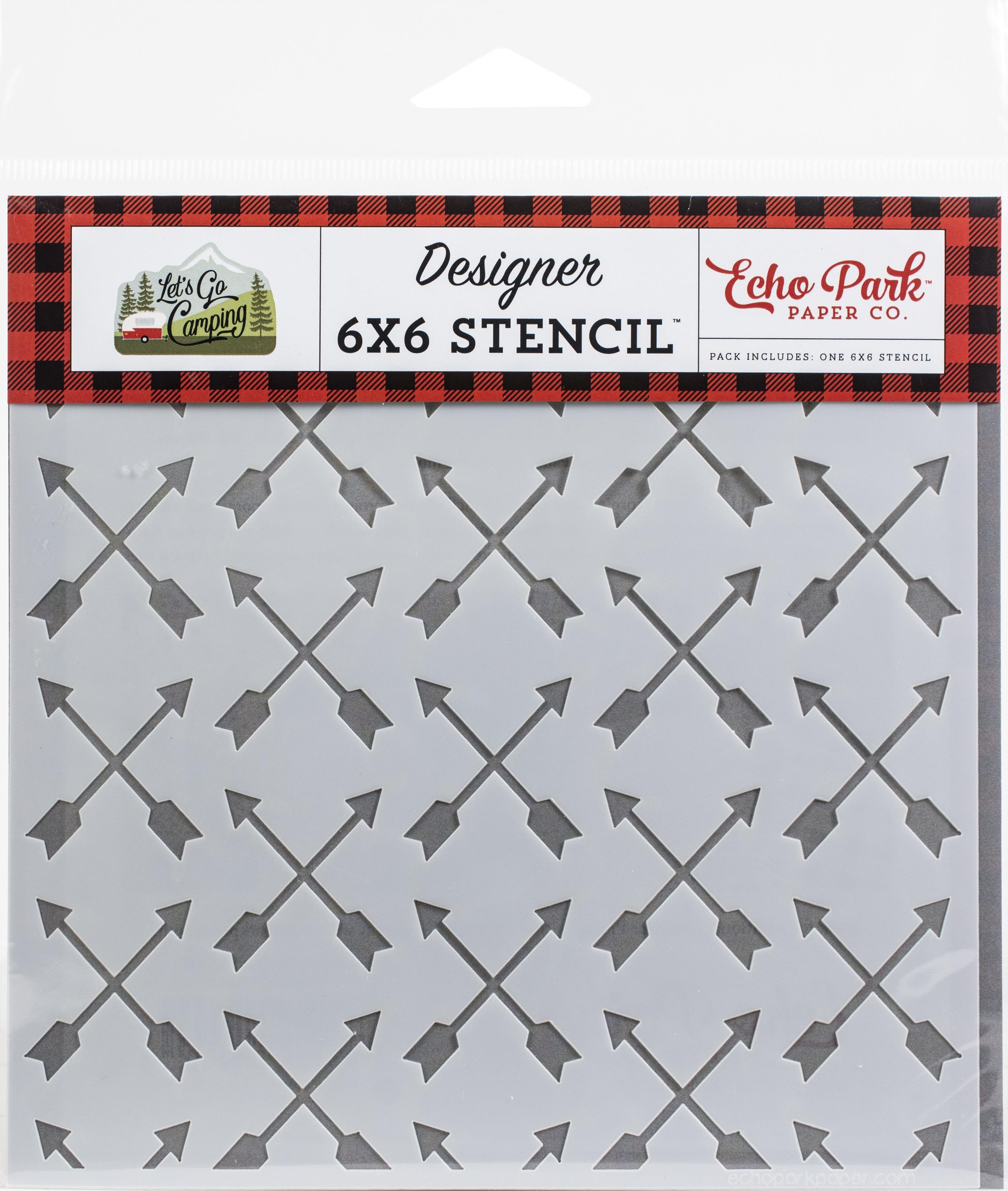 Echo Park Stencil 6X6-Shooting Arrows