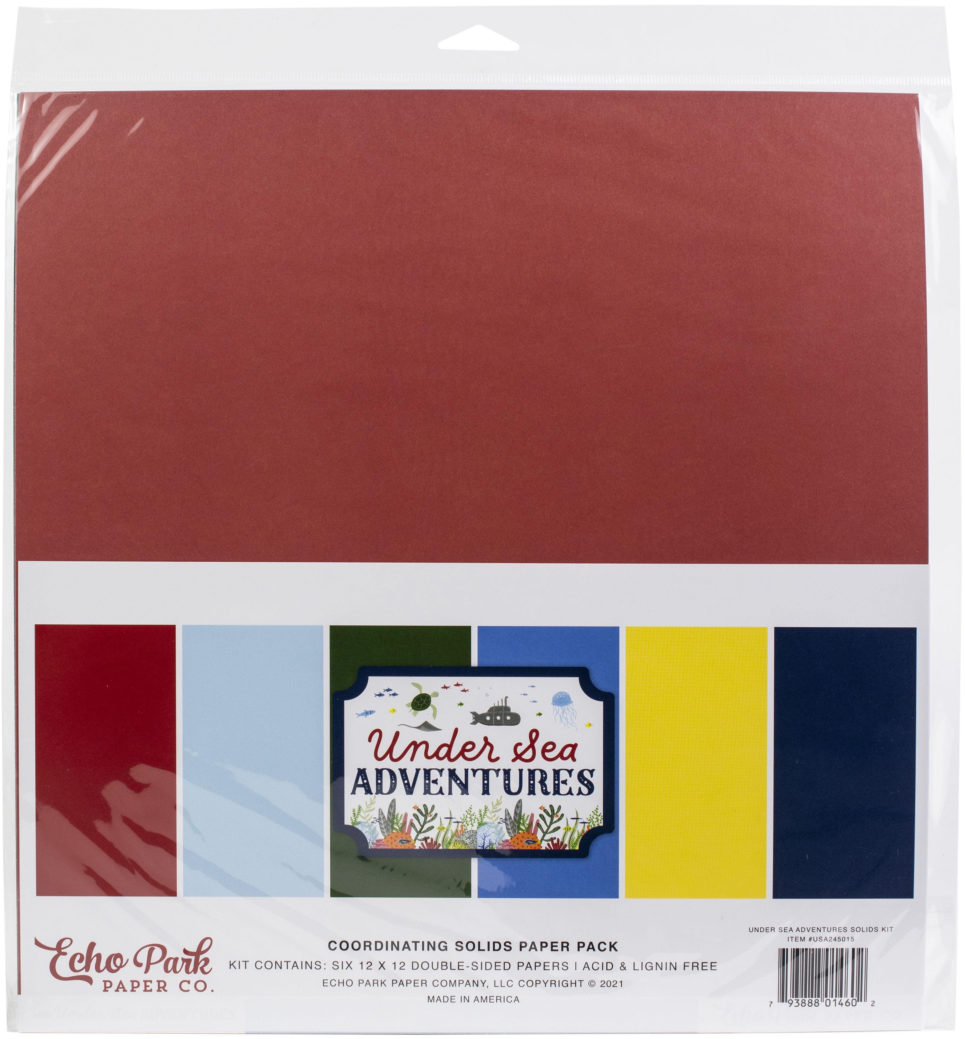 Echo Park - Under Sea Adventures - 12x12 Coordinating Solids Paper Pack