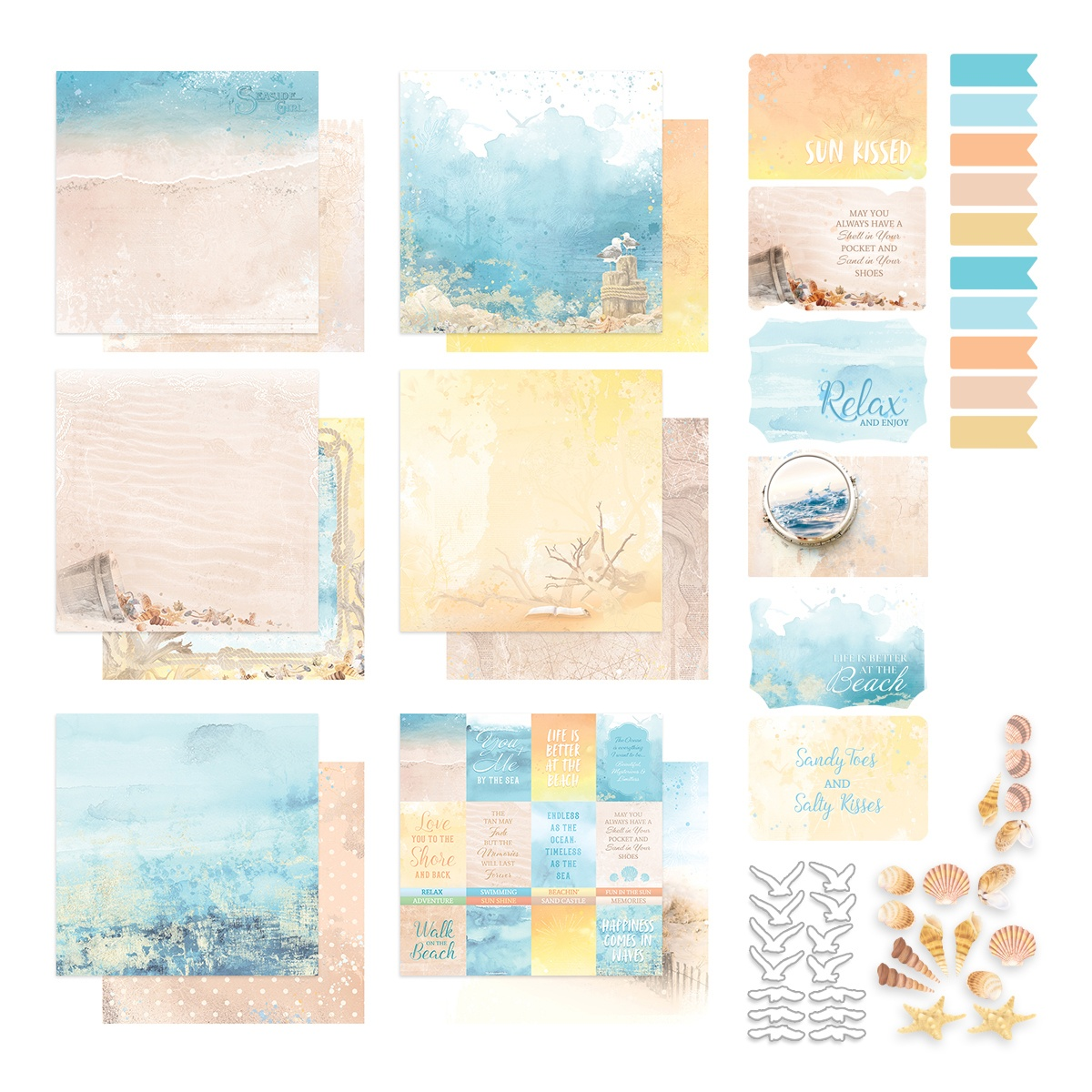 Couture Creations - Seaside Girl - 12x12 Paper Pack