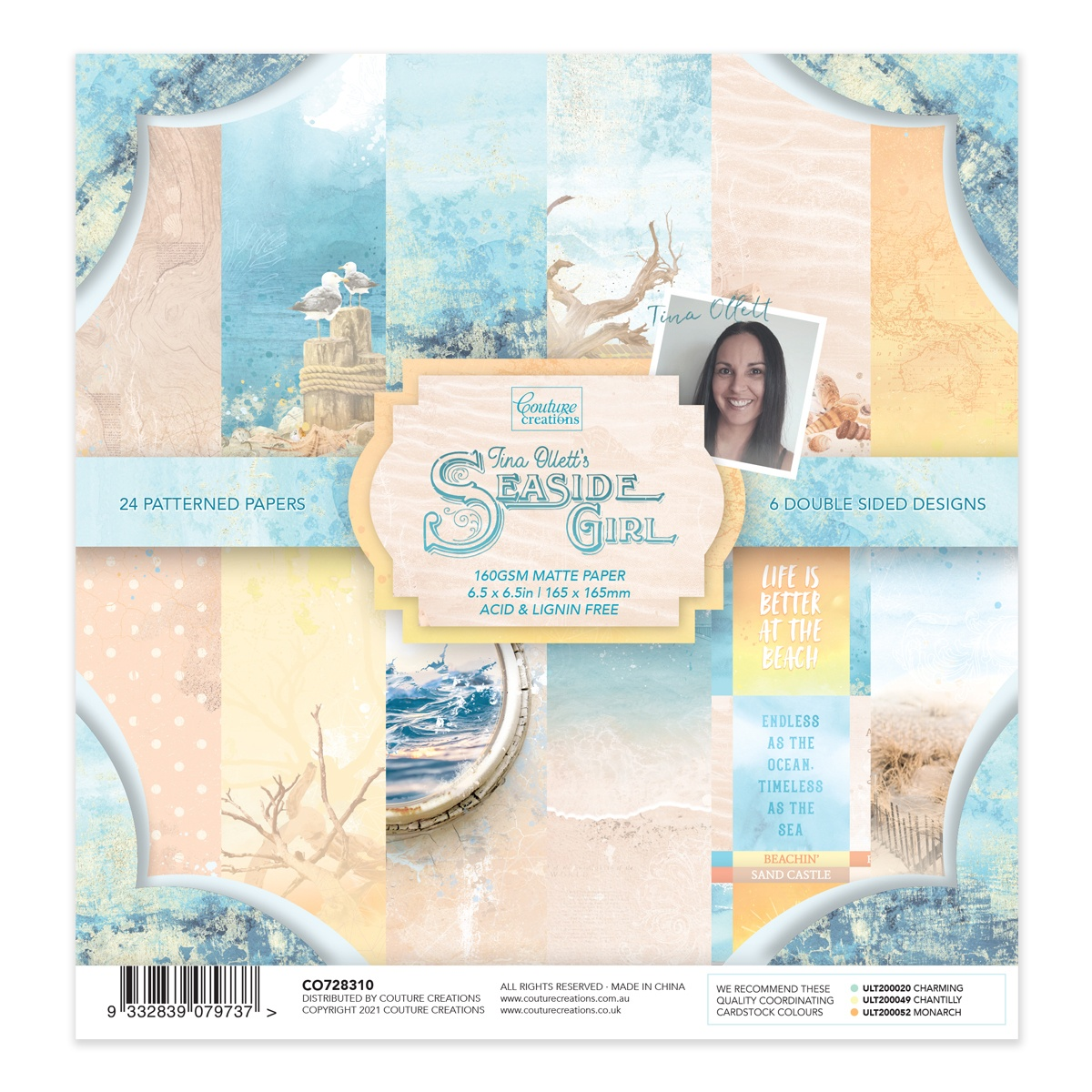 Couture Creations - Seaside Girl - 6.5 x 6.5 Paper Pad
