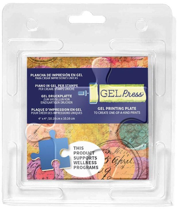 Gel Press Gel Plate 4X4-Puzzle Piece