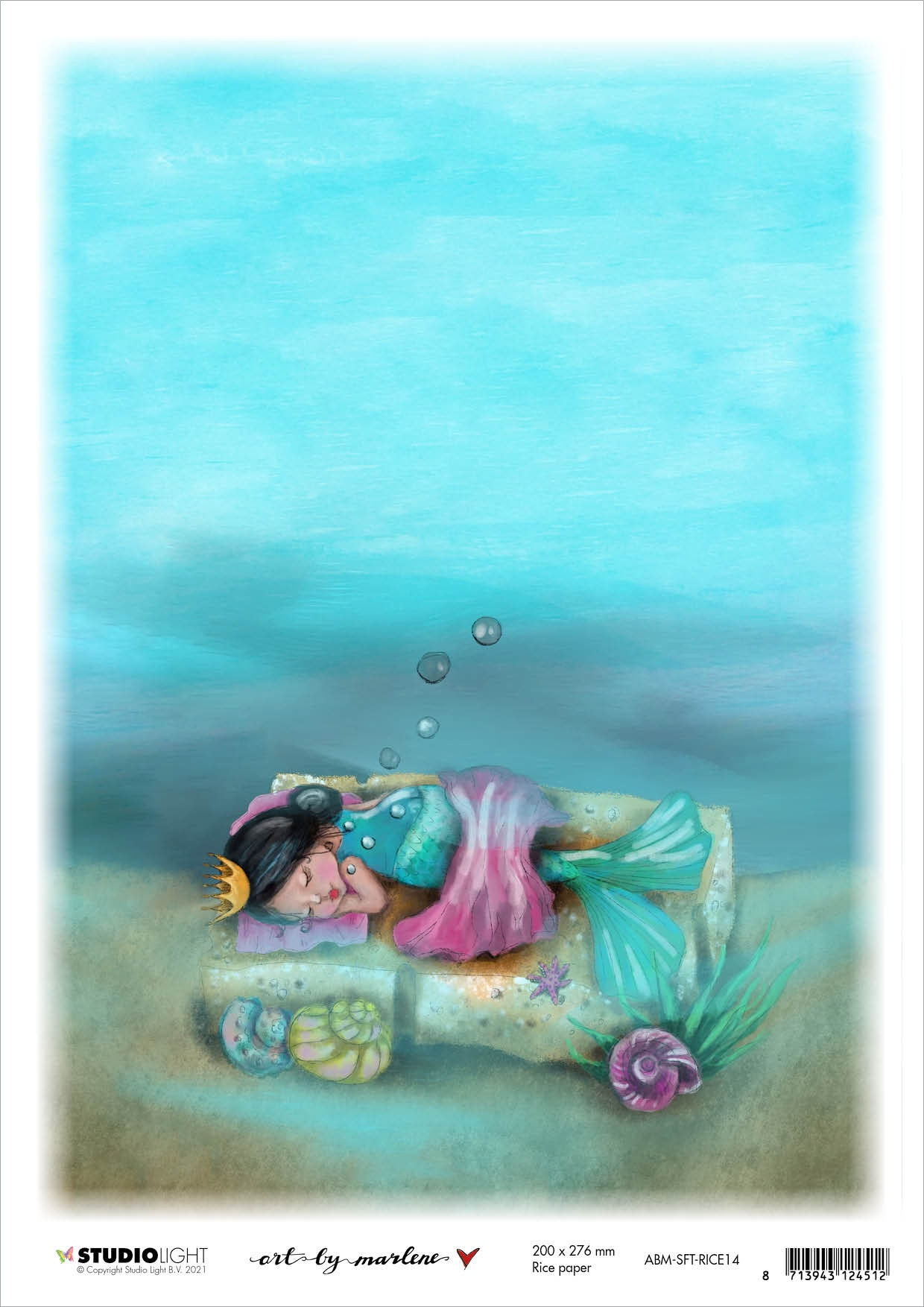 Art By Marlene So-Fish-Ticated Rice Paper Sheet A4-Deep Sleep