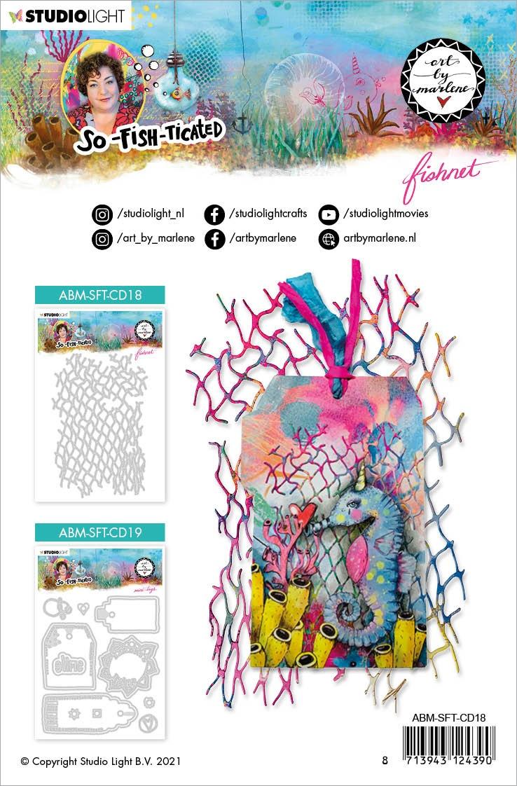 Art By Marlene - So-Fish-Ticated - Cutting Die - Fishnet