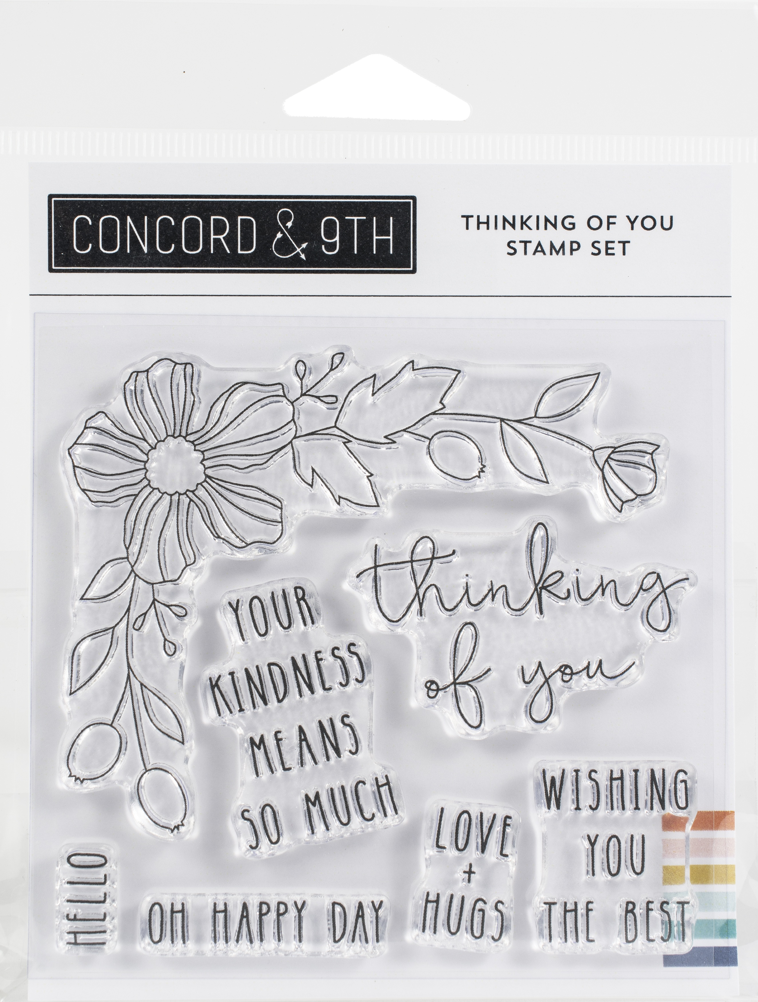 Concord & 9th Clear Stamps 4X4-Thinking Of You