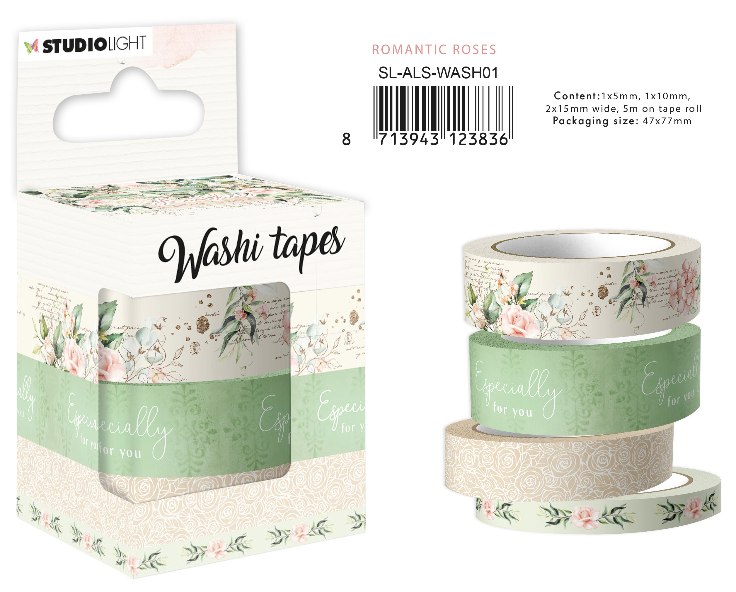 Another Love Story Washi Tape-Romantic Roses