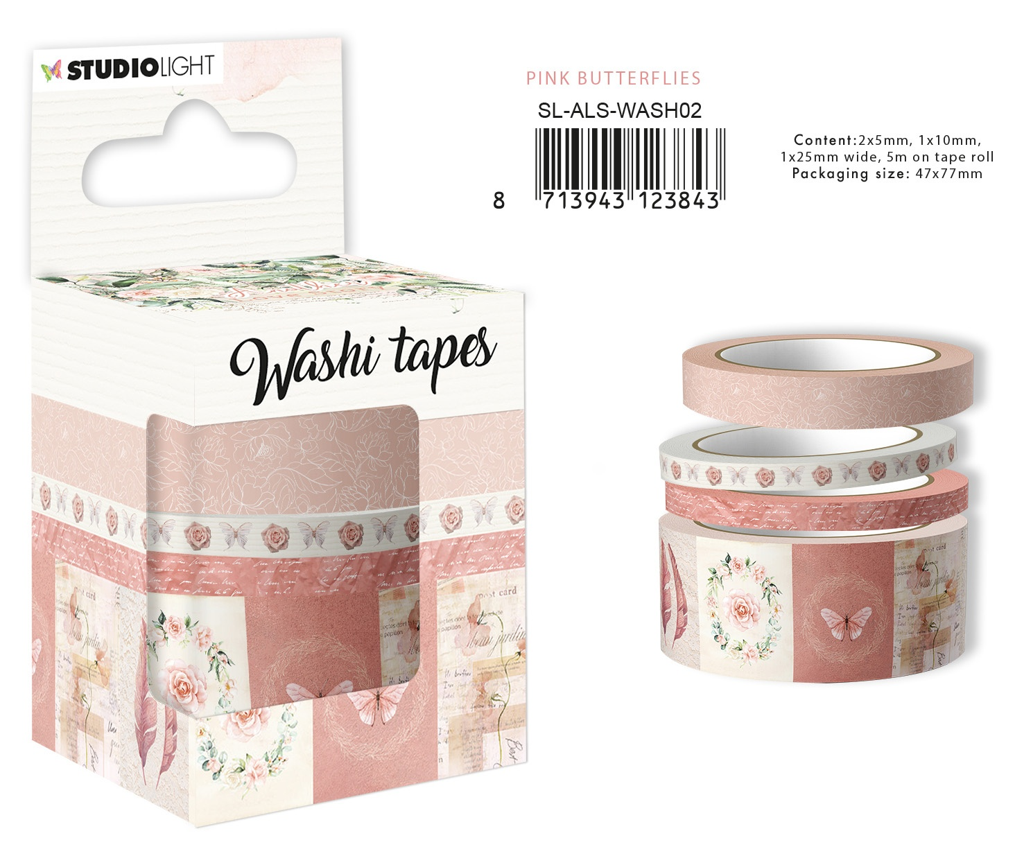 Another Love Story Washi Tape-Pink Butterflies
