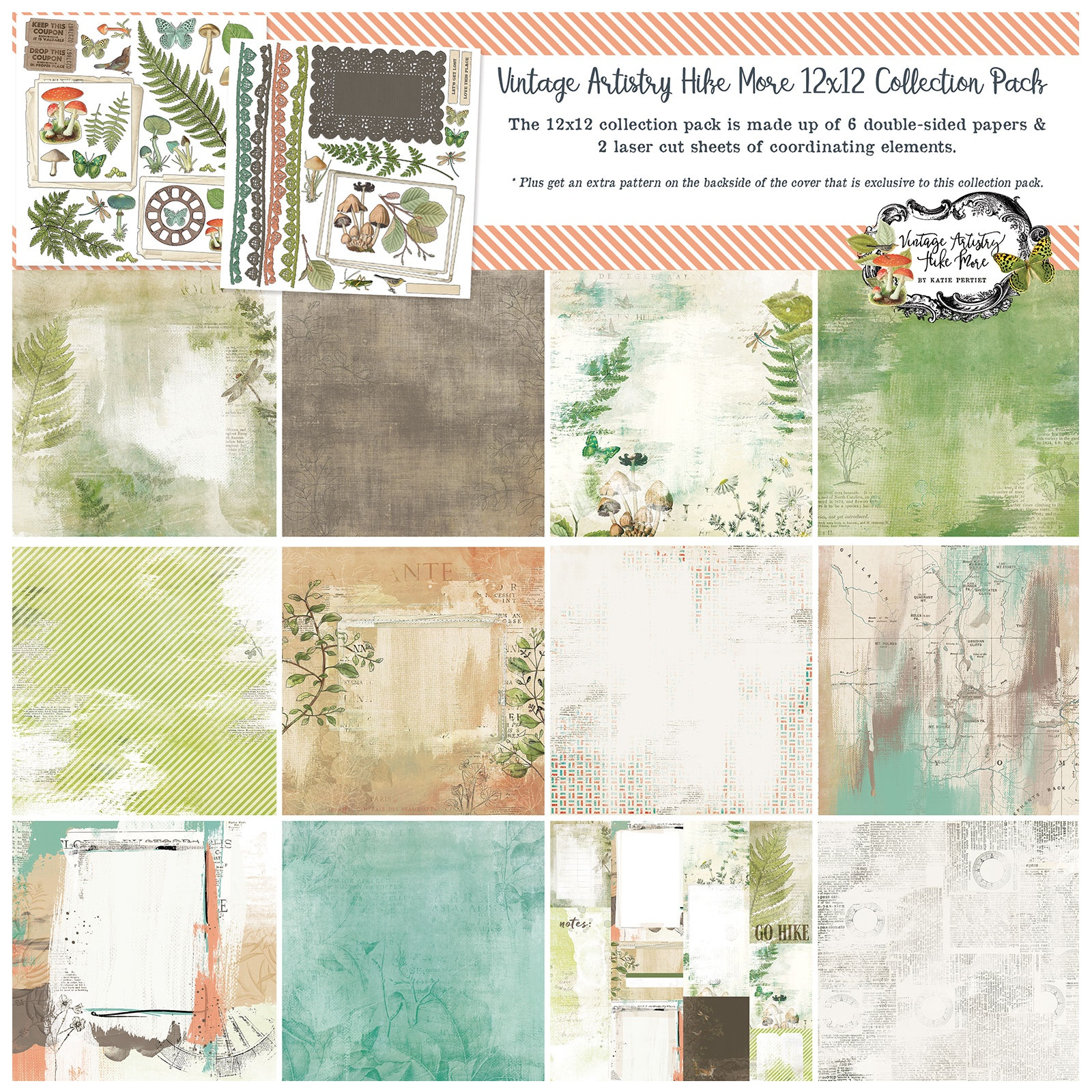 49 And Market Collection Pack 12X12-Vintage Artistry Hike More
