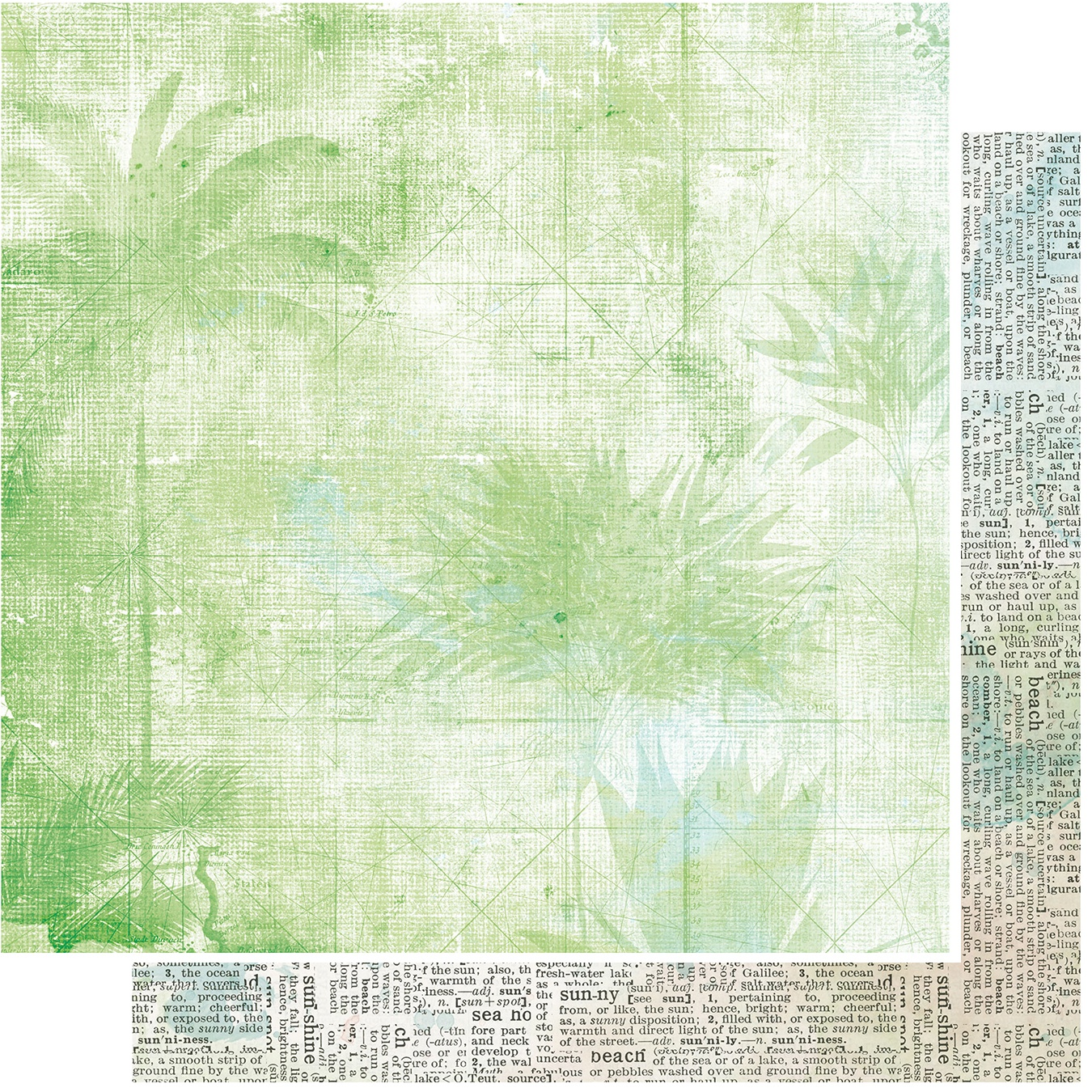 COLLECTION: Vintage Artistry Beached Double-Sided Cardstock 12X12