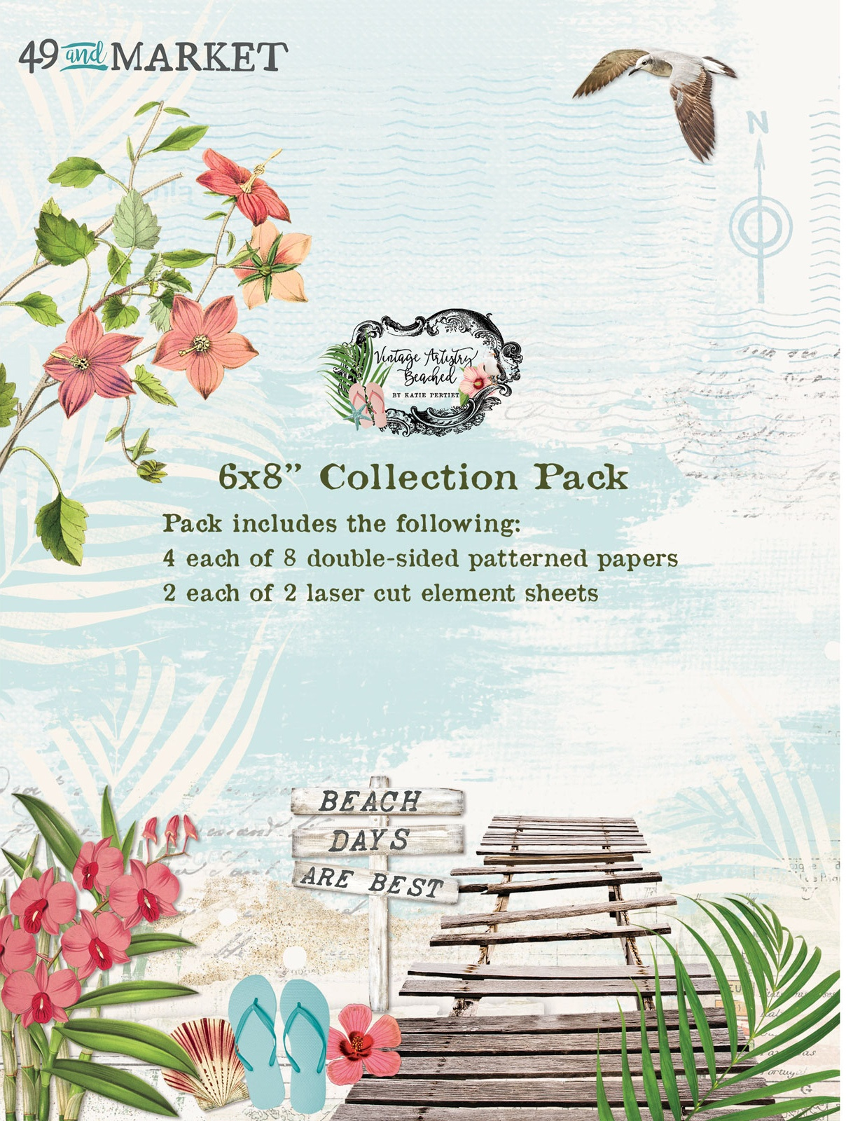 49 And Market Collection Pack 6X8-Vintage Artistry Beached