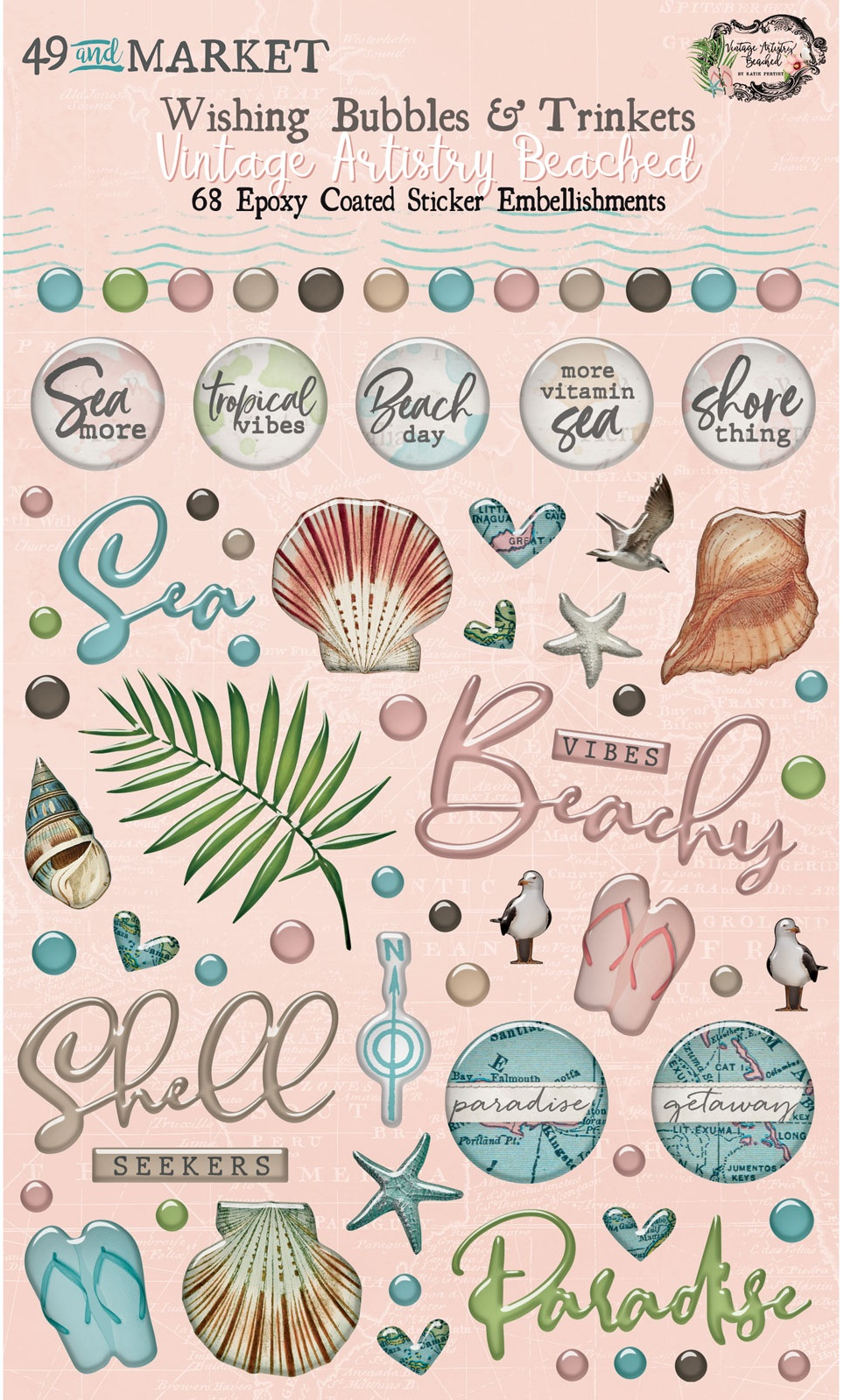 Vintage Artistry Beached Wishing Bubbles & Trinkets-