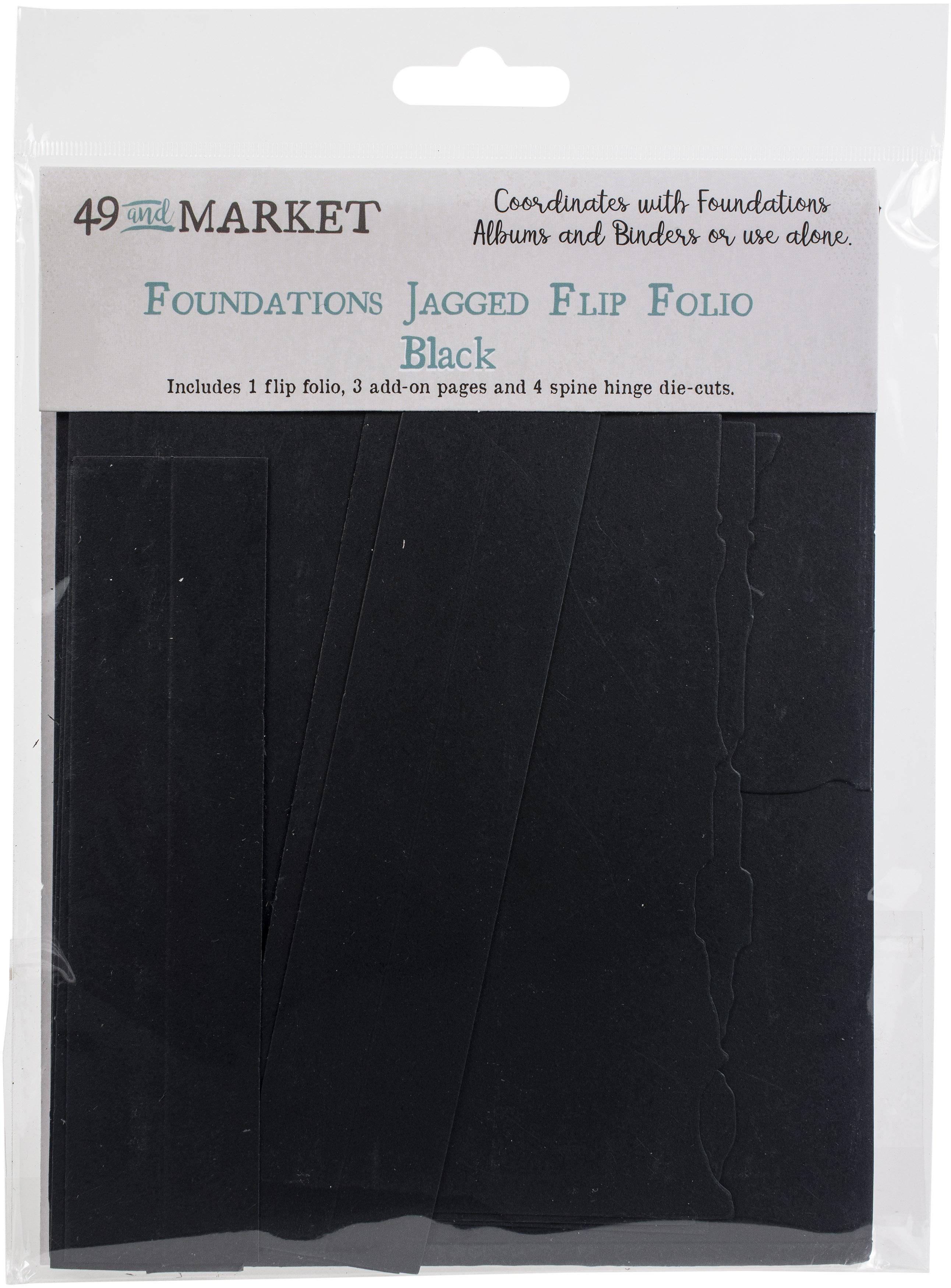 49 And Market Foundations Jagged Flip Folio-Black