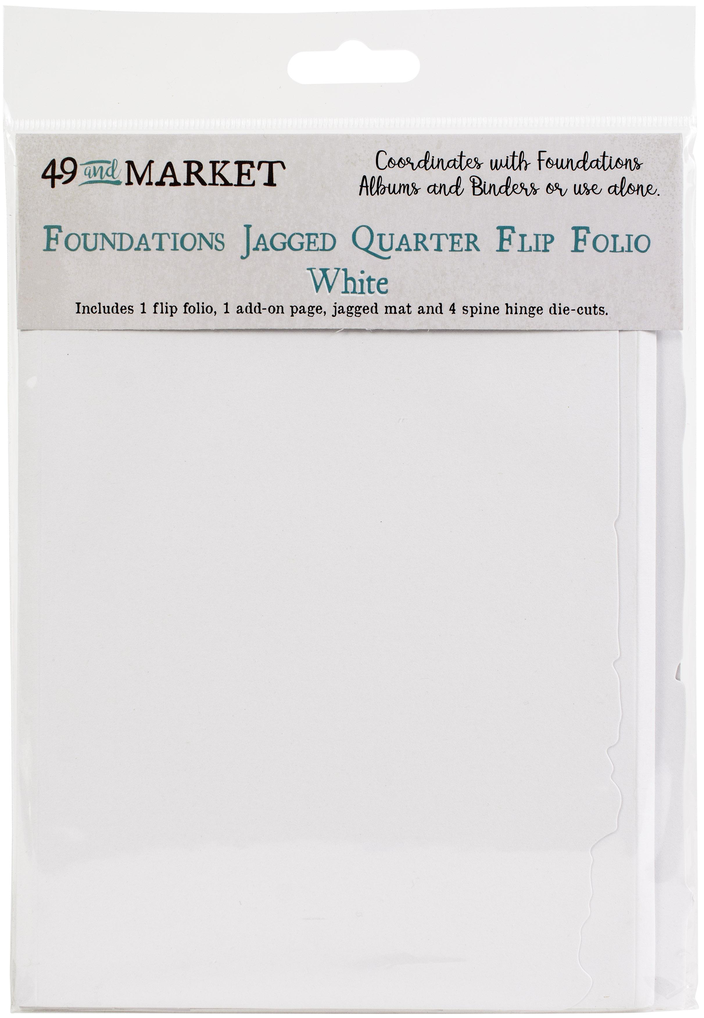 49 And Market Foundations Jagged Quarter Flip Folio-White