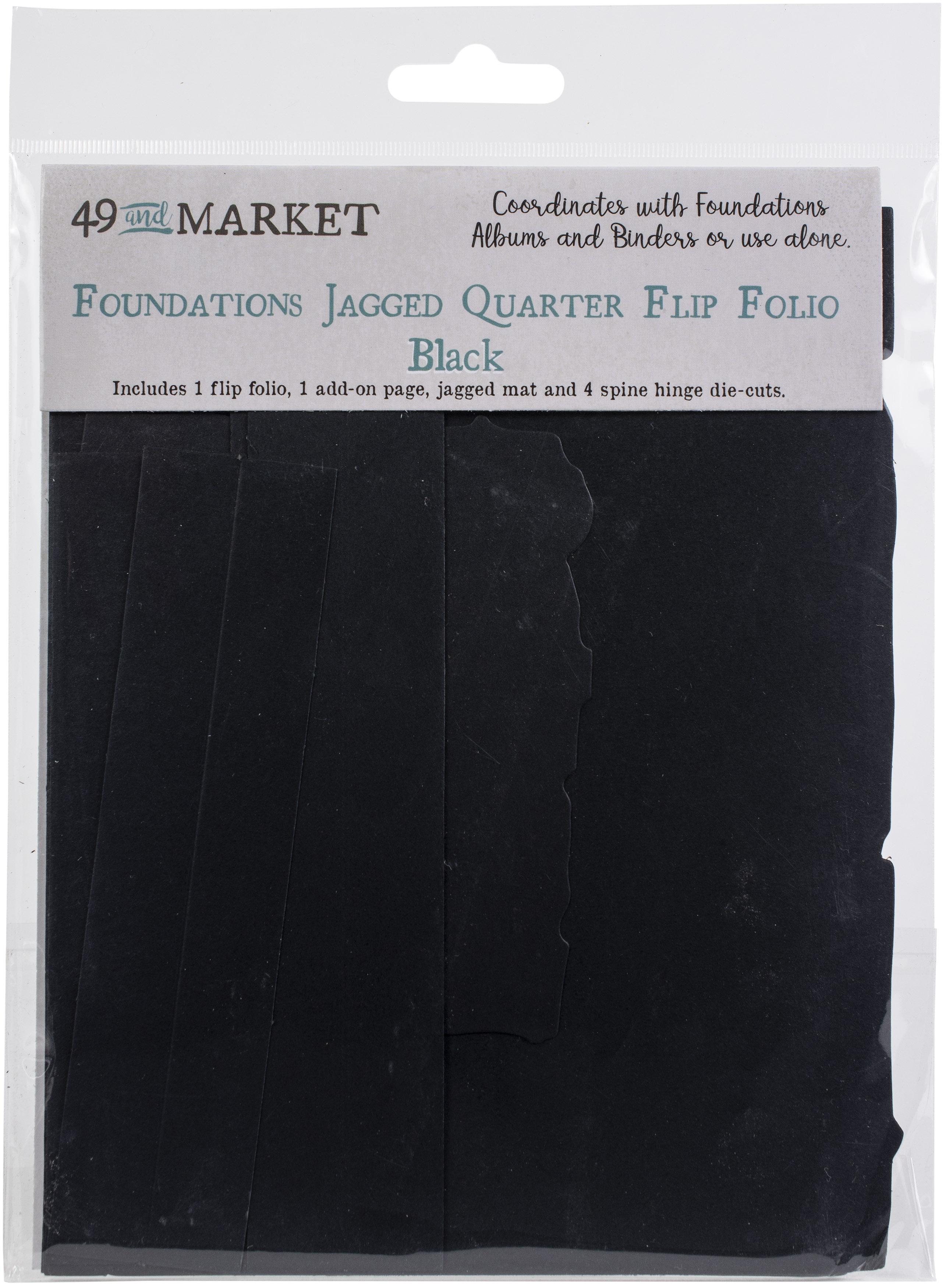 49 And Market Foundations Jagged Quarter Flip Folio-Black