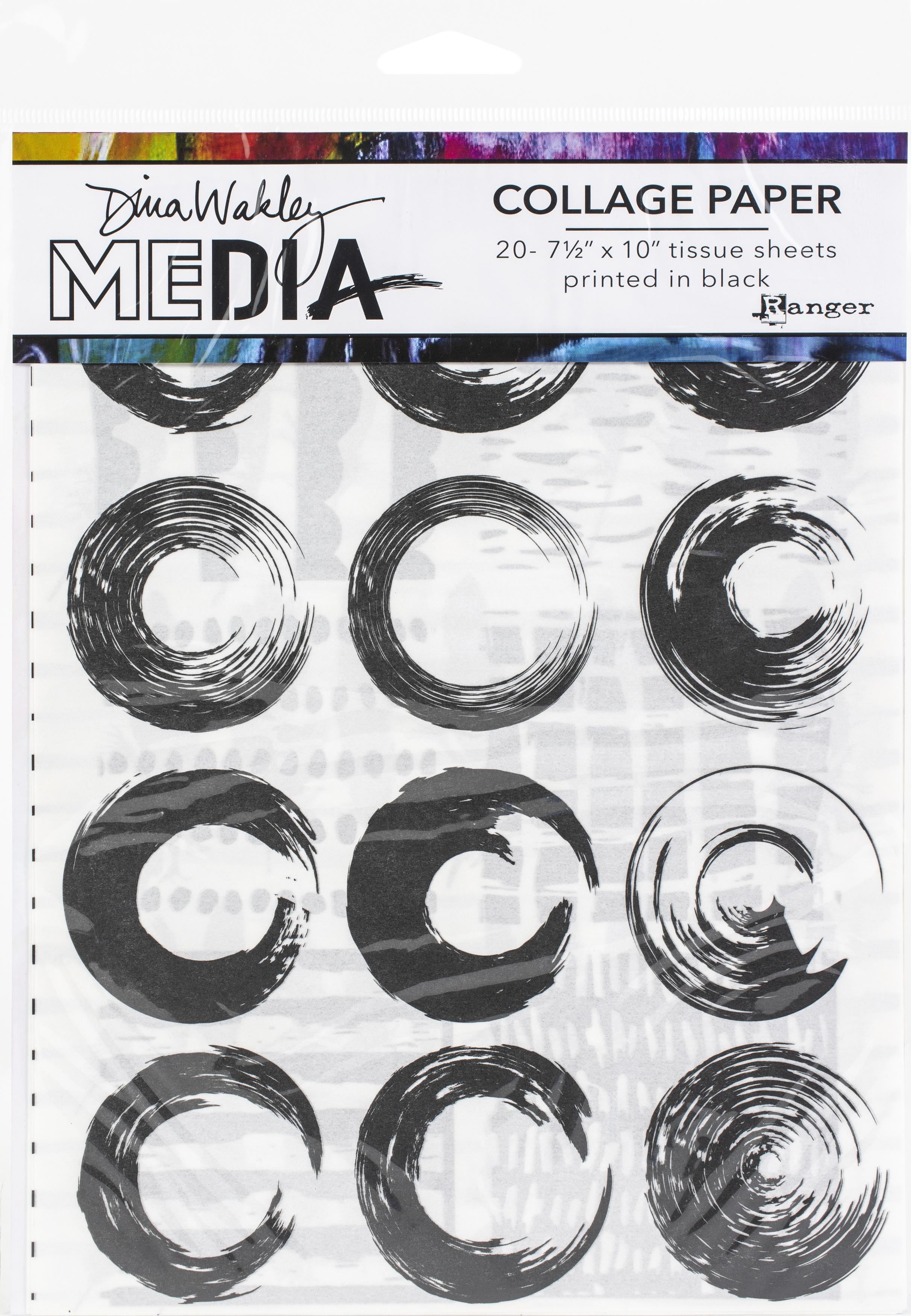 Dina Wakley Media Collage Tissue Paper 7.5X10 20/Pkg-Elements