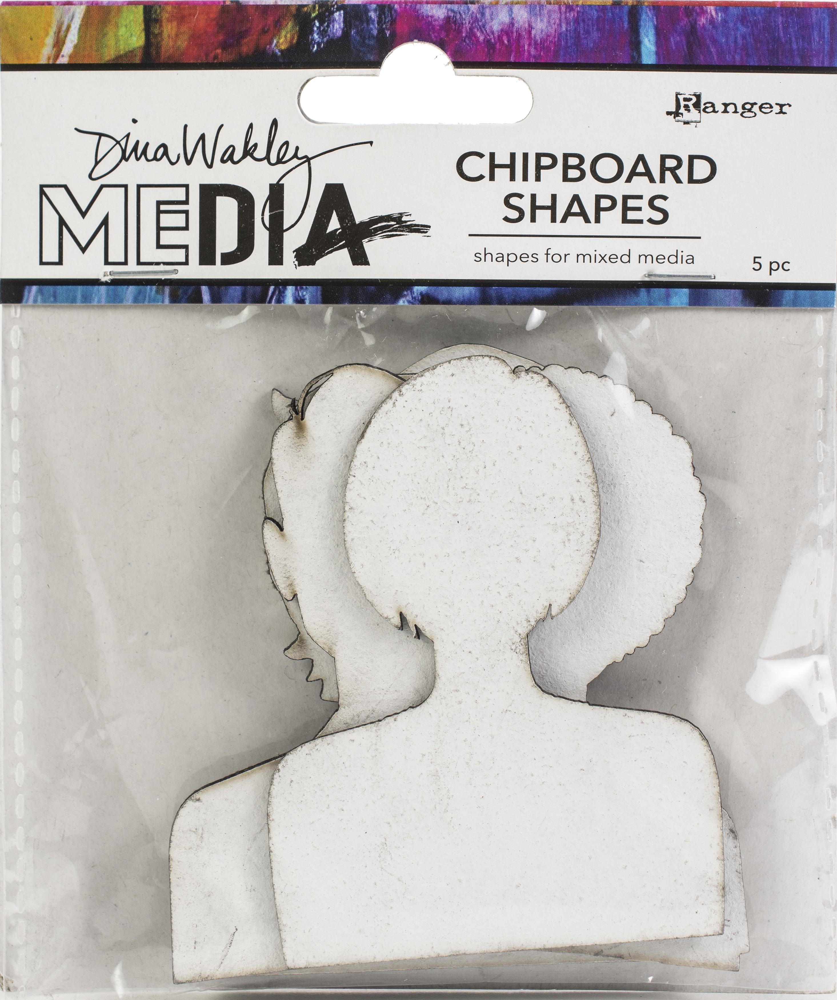 Dina Wakley Media Chipboard Shapes-Passport Photos