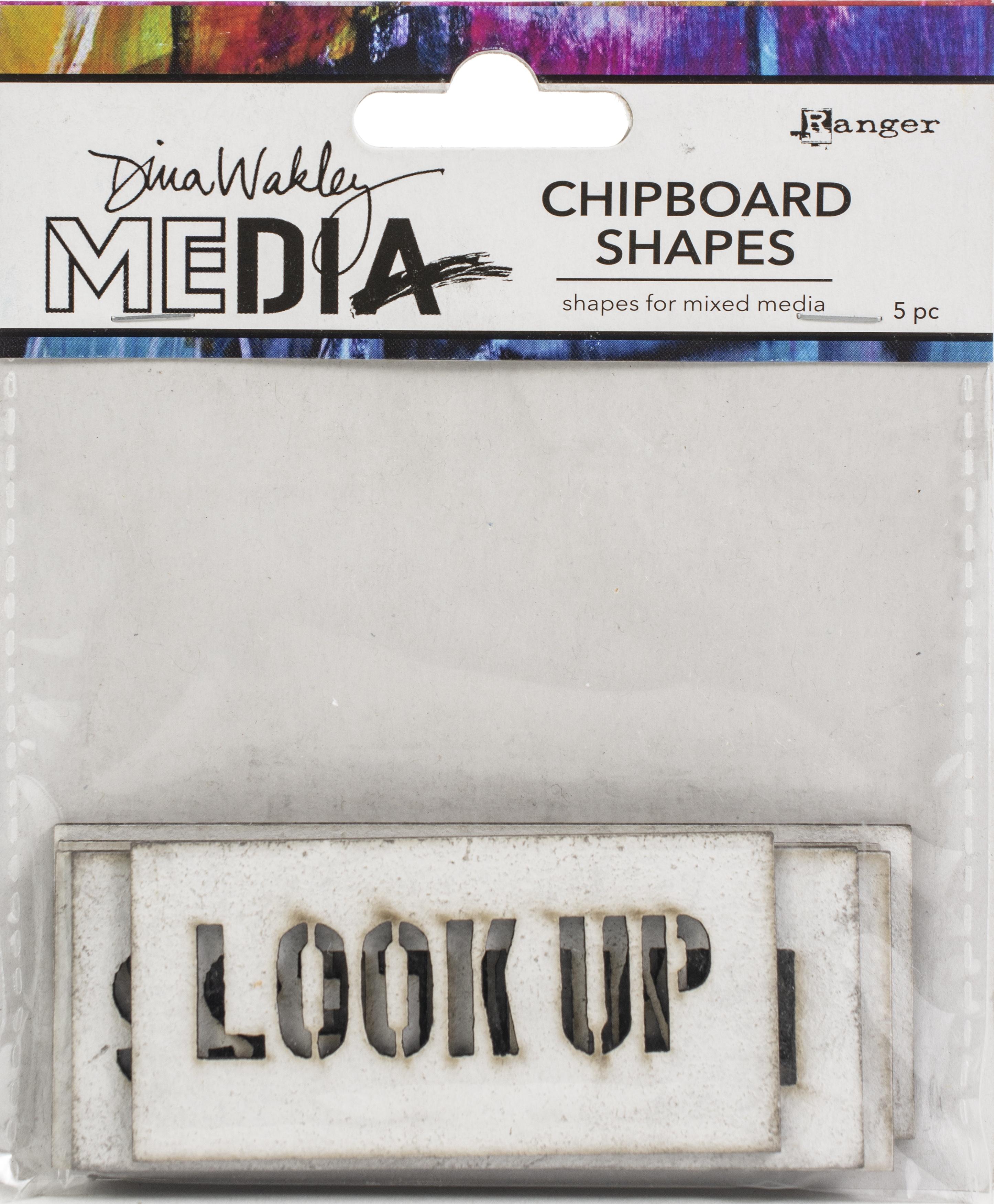 Dina Wakley Media Chipboard Shapes-Speak Out