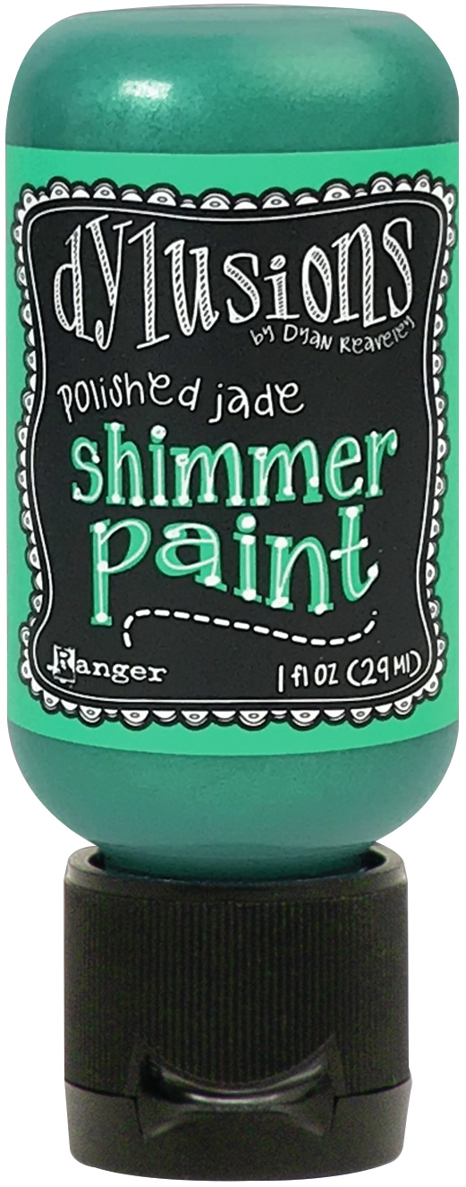 Dylusions Shimmer Paint 1oz-Polished Jade