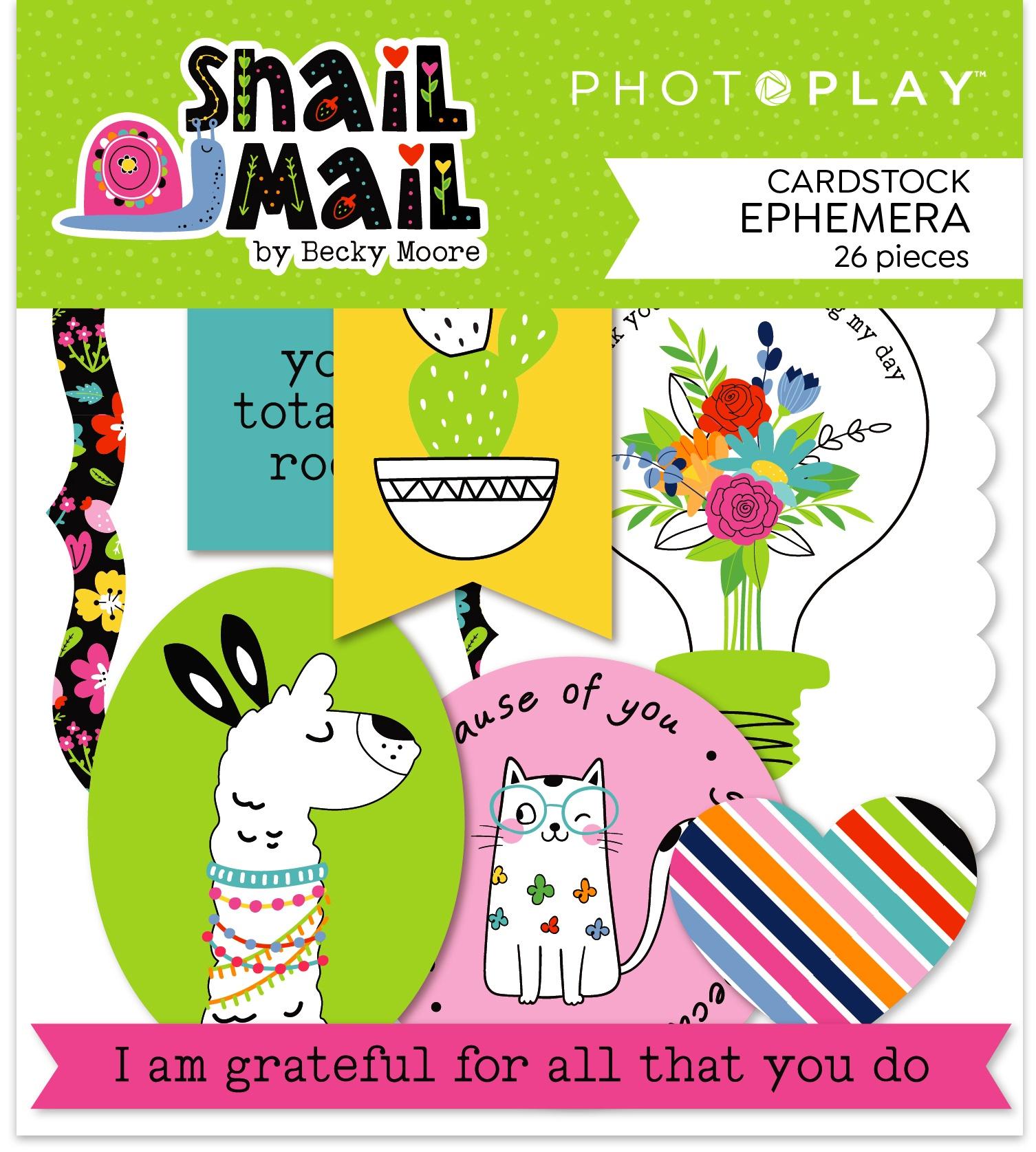 Snail Mail Ephemera Cardstock Die-Cuts